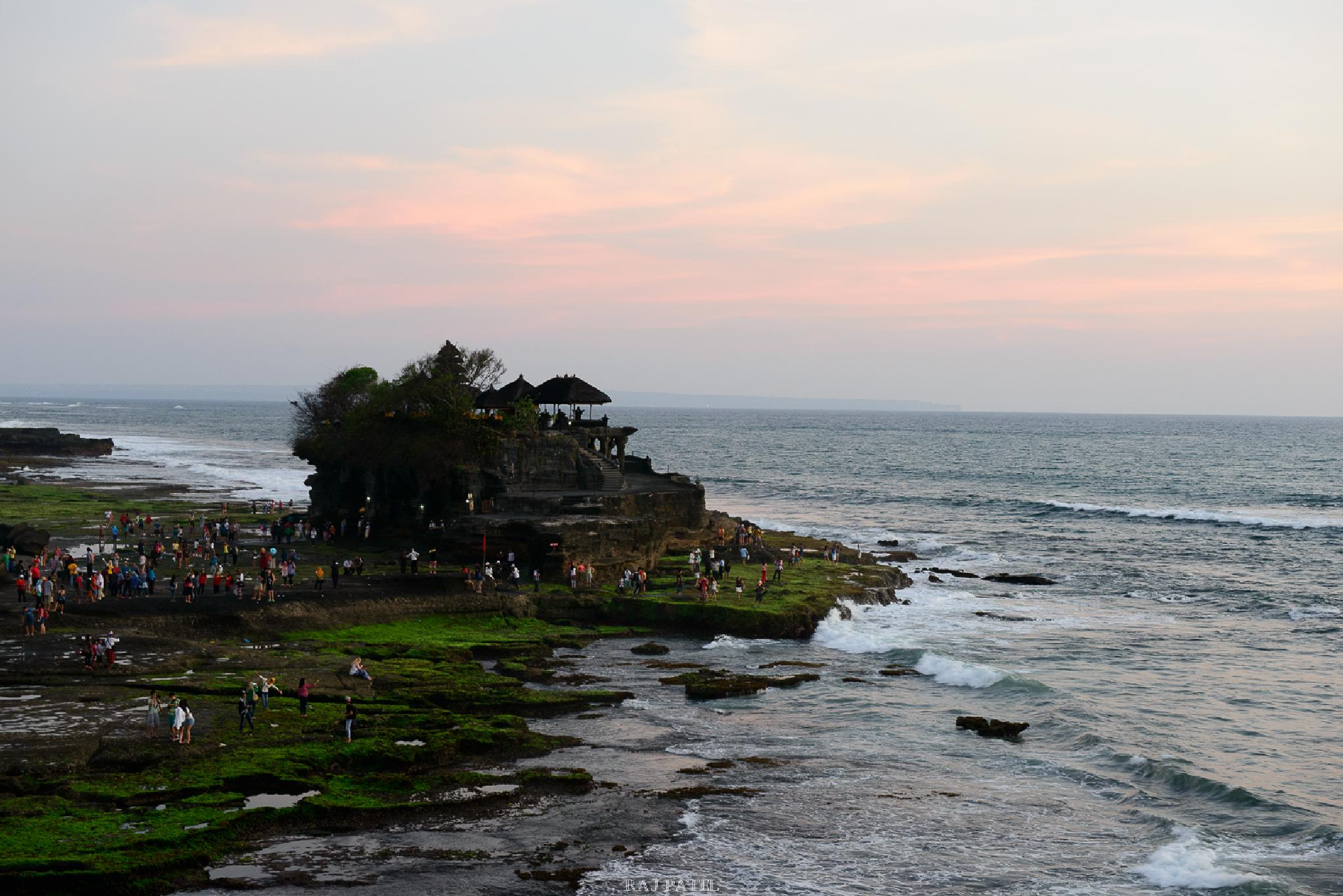 Sunset at Tanah Lot Temple - Bali by Raj Patel