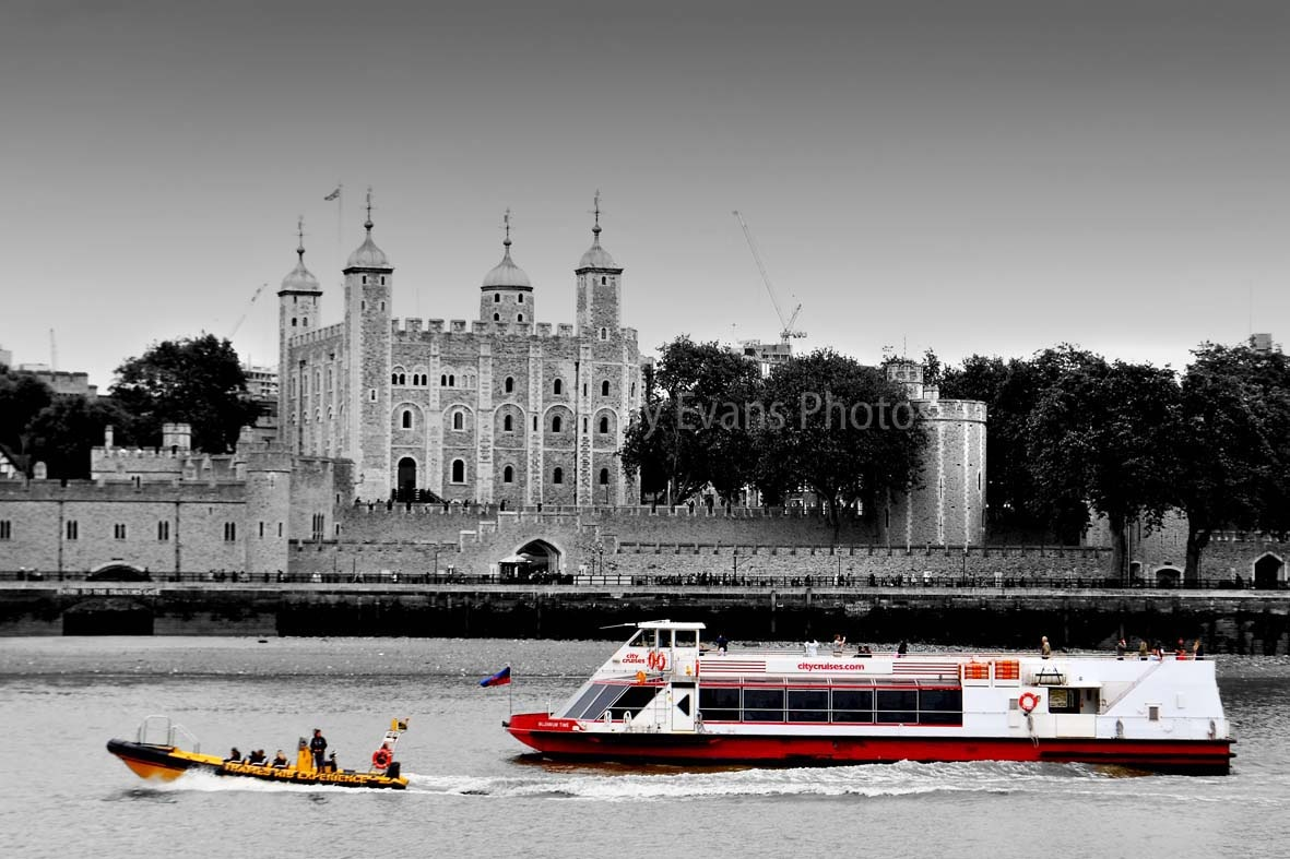 The Tower Of London and Thames River Cruiser London England by AndyEvans