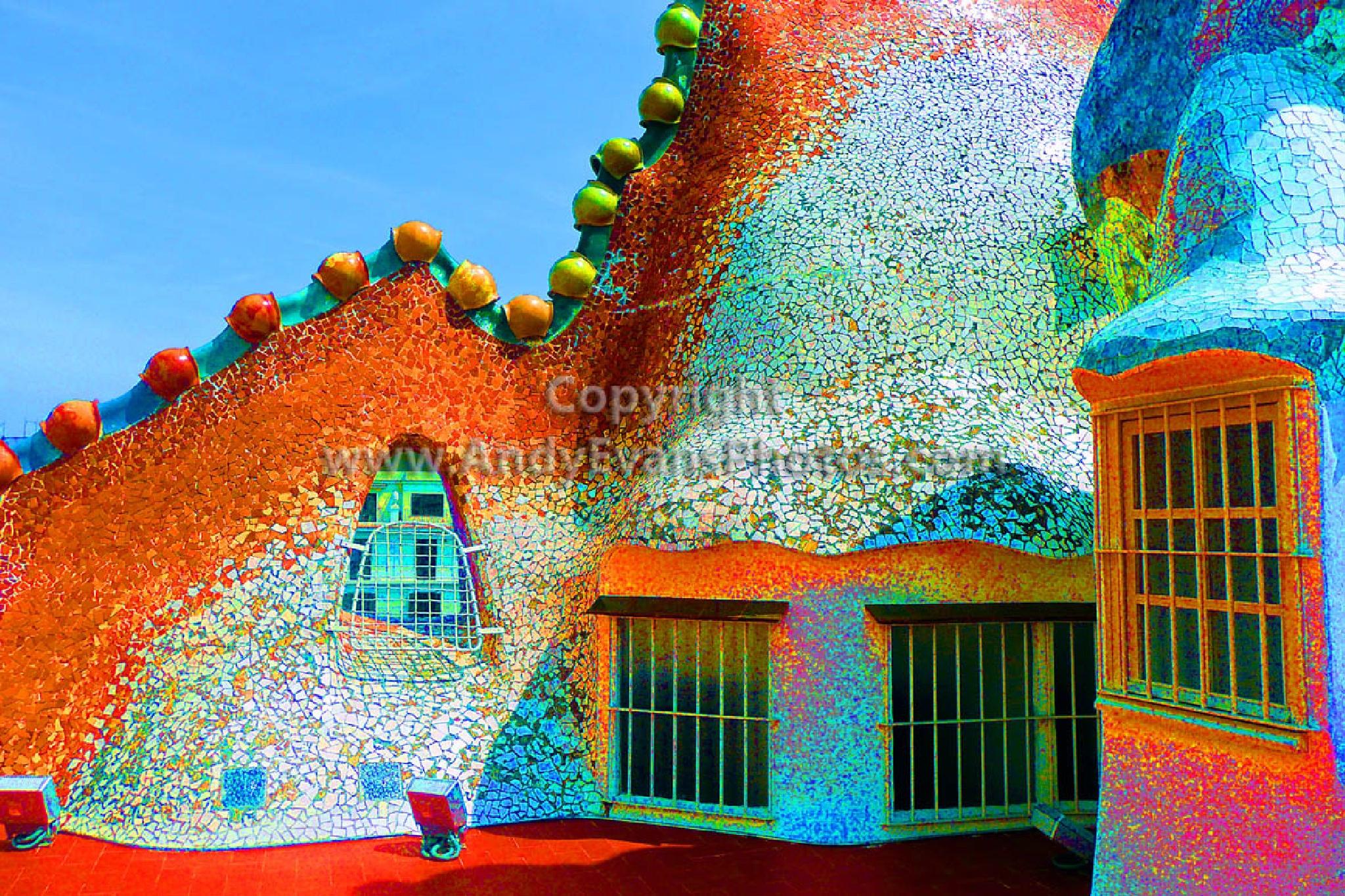 Casa Batllo Antonio Gaudi Building, Barcelona, Catalonia, Spain by AndyEvans