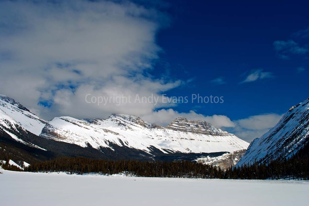 Icefields Parkway Highway 93  leading to Columbia Icefield in Canadian Rocky Mountains between Banff by AndyEvans