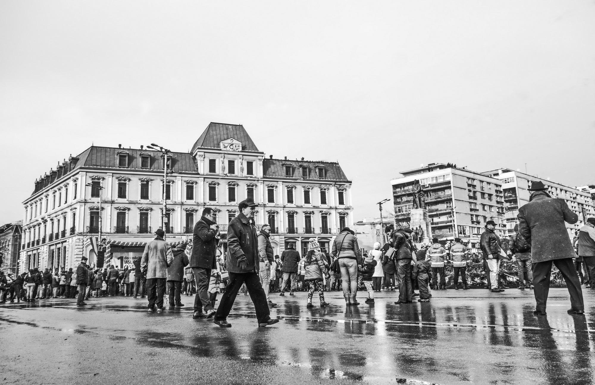Hotel Traian on Great Union Day of Romania  by EnacheArmandIustinian