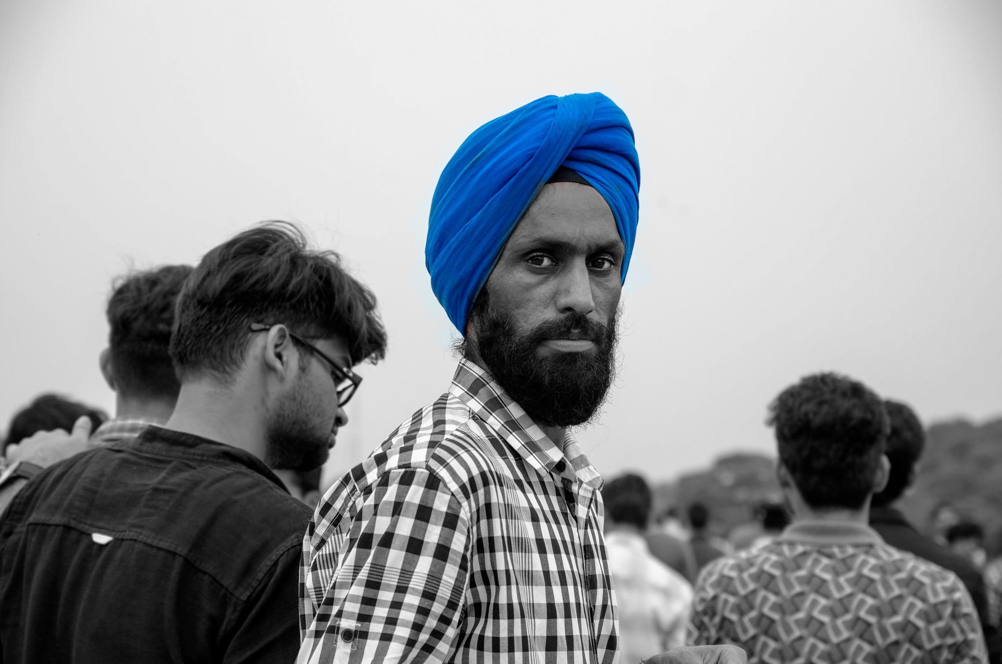 Sikh man in India by marokkyprianou