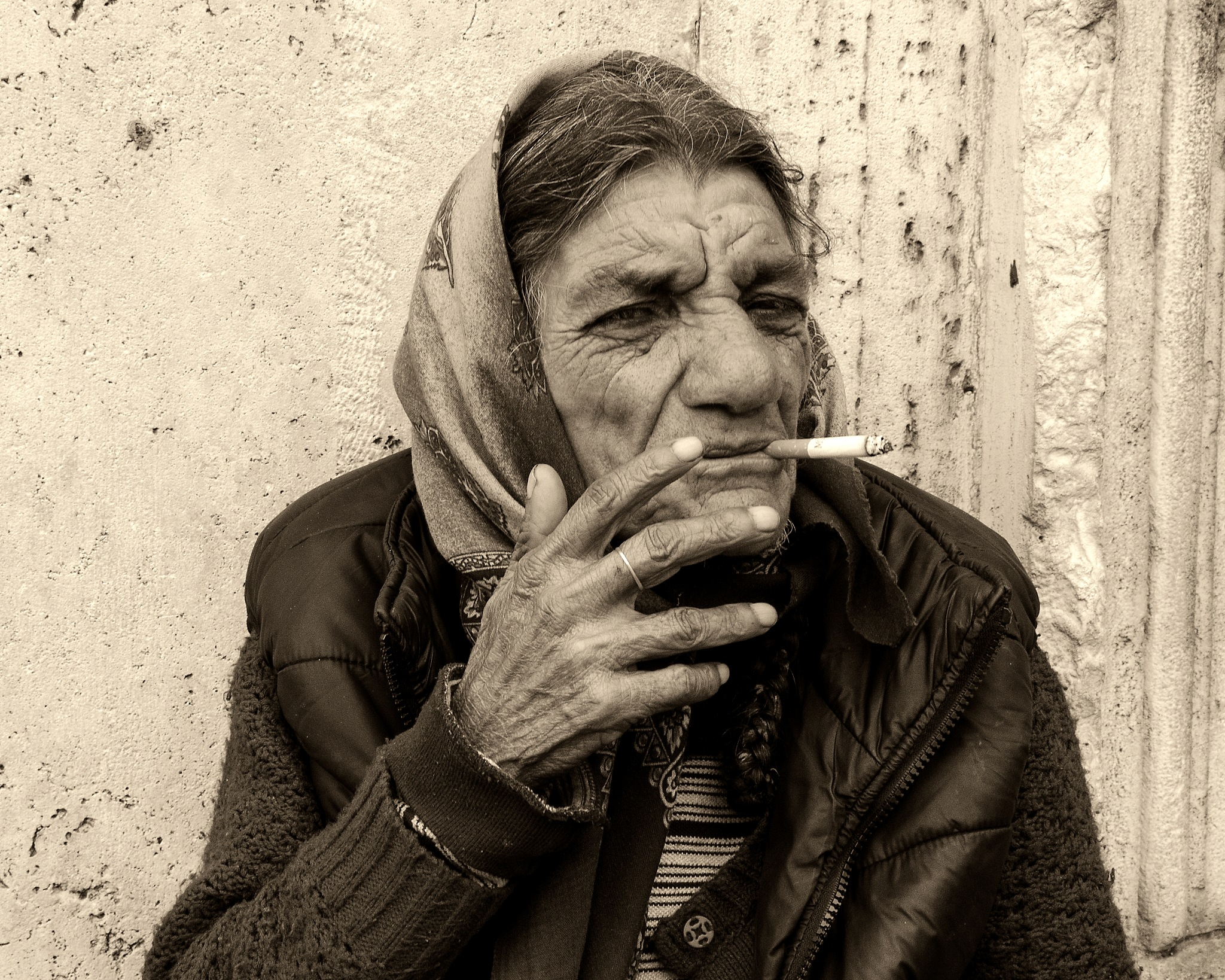The smoker woman by marokkyprianou