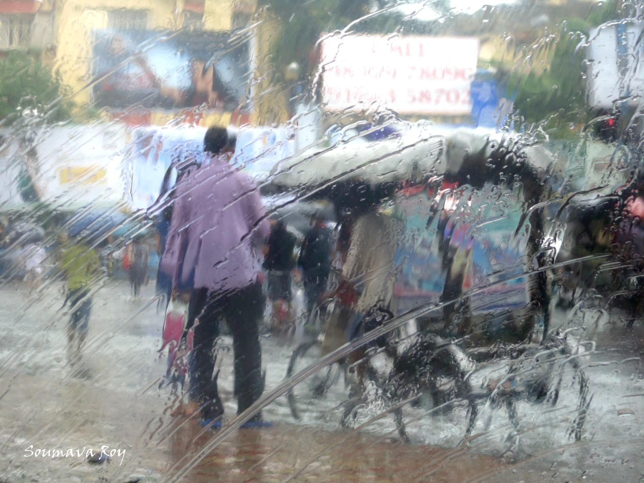 Rain Canvas 1 by soumavaroy56