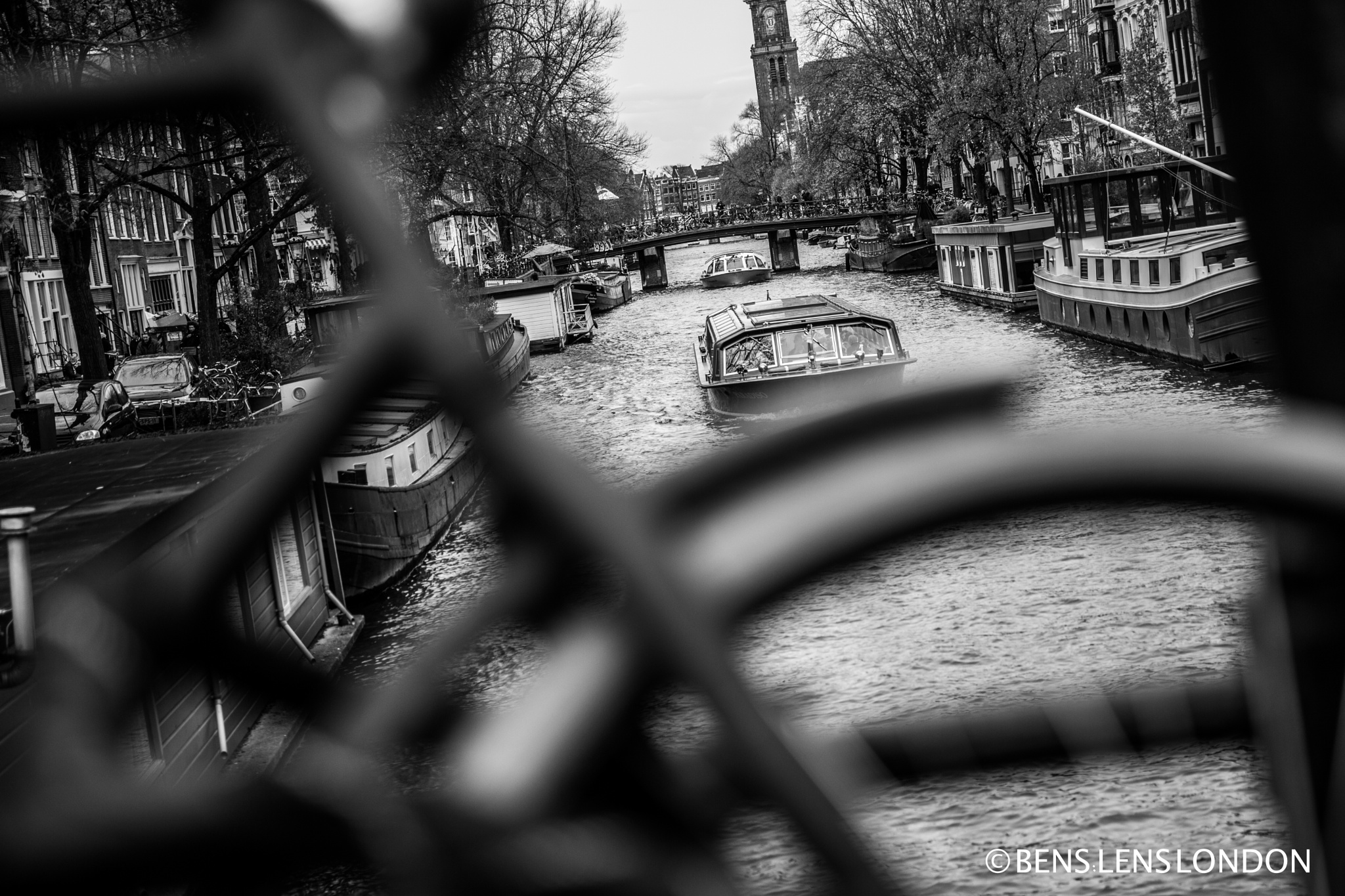 Bikes and Canals - Amsterdam of course by Benjamin Lacey