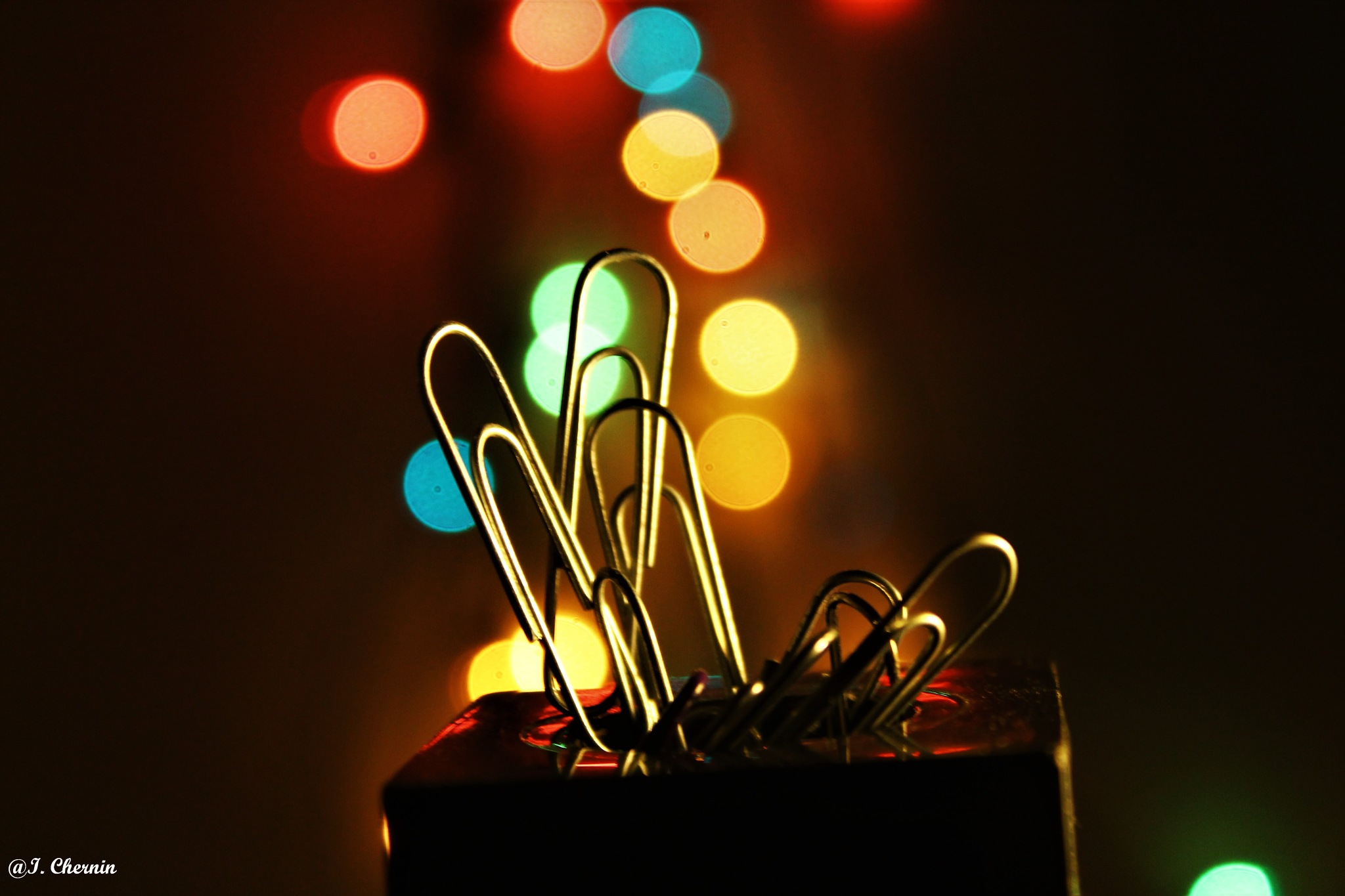 paper clips with bokeh by ichernin