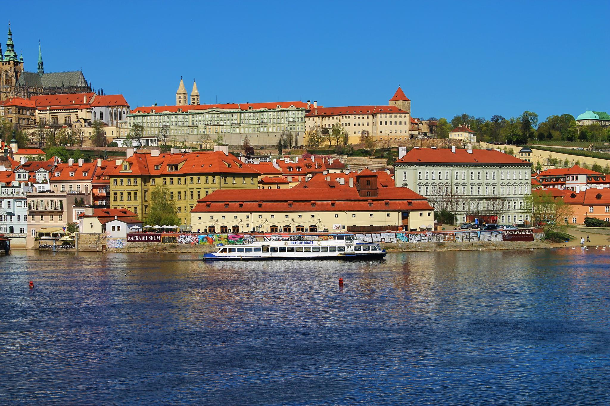 prague and the moldava river by ichernin