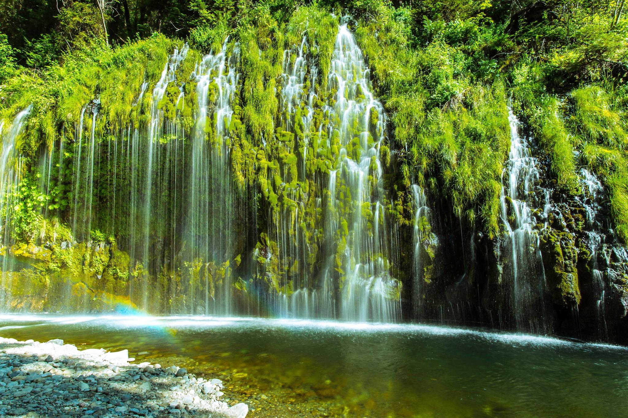 Mossbrae Falls and Small Rainbow by DanBlackburn