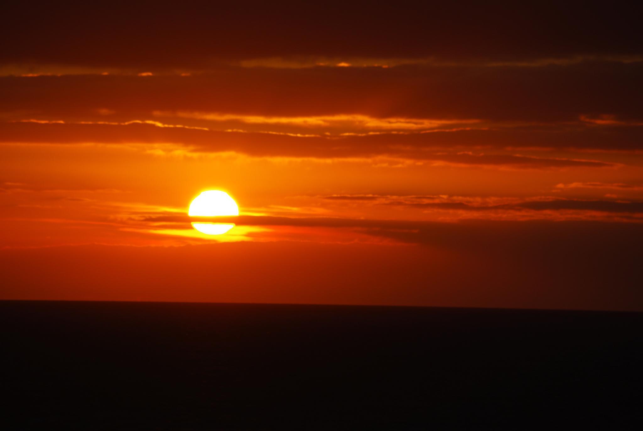 Orange Sunset by Kelly-Ann Davies