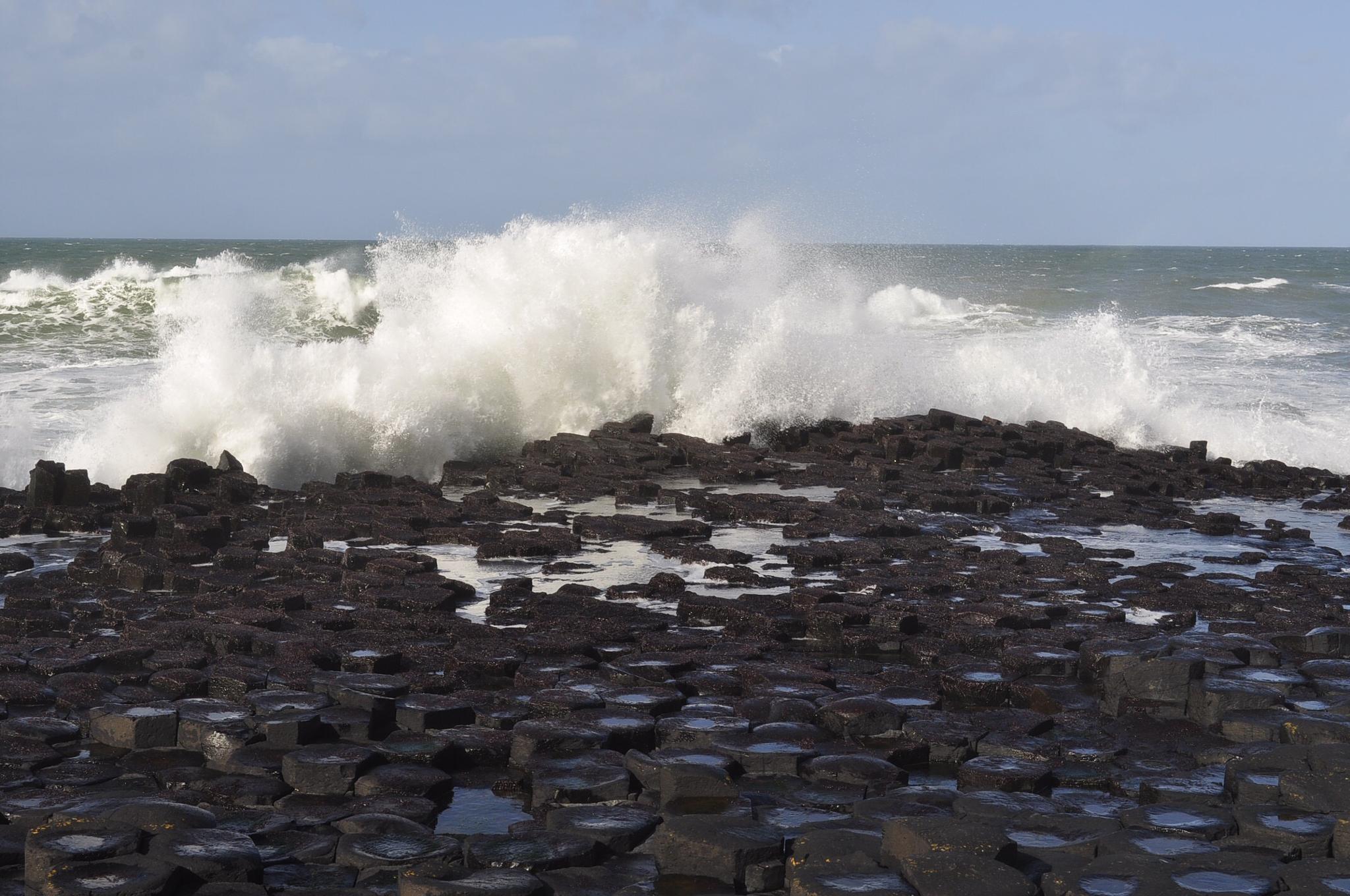 Waves crashing by Susan Swearengin