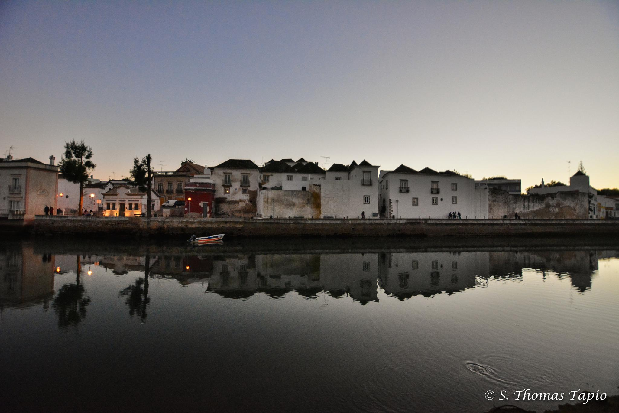 Twilight in Tavira, Portugal by Thomas Tapio