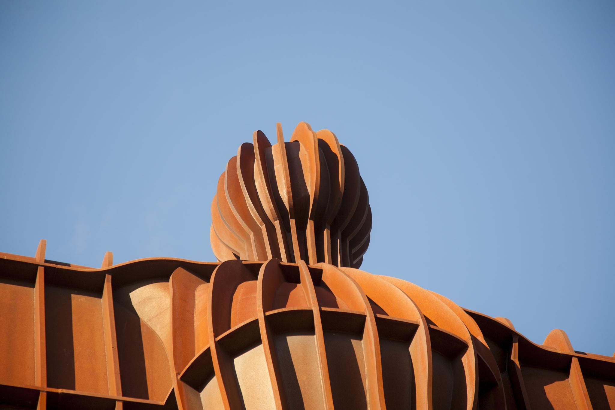 THE ANGEL OF THE NORTH: close up and personal by Robbie Clark Photographics
