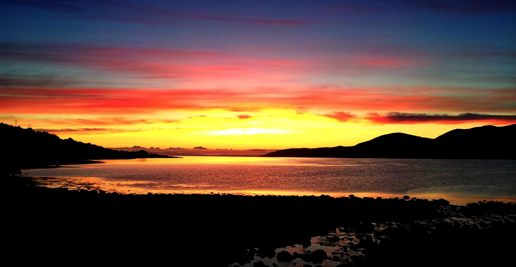 Sunrise over the Firth of Clyde and Arran, Scotland by Rupert.Johnson