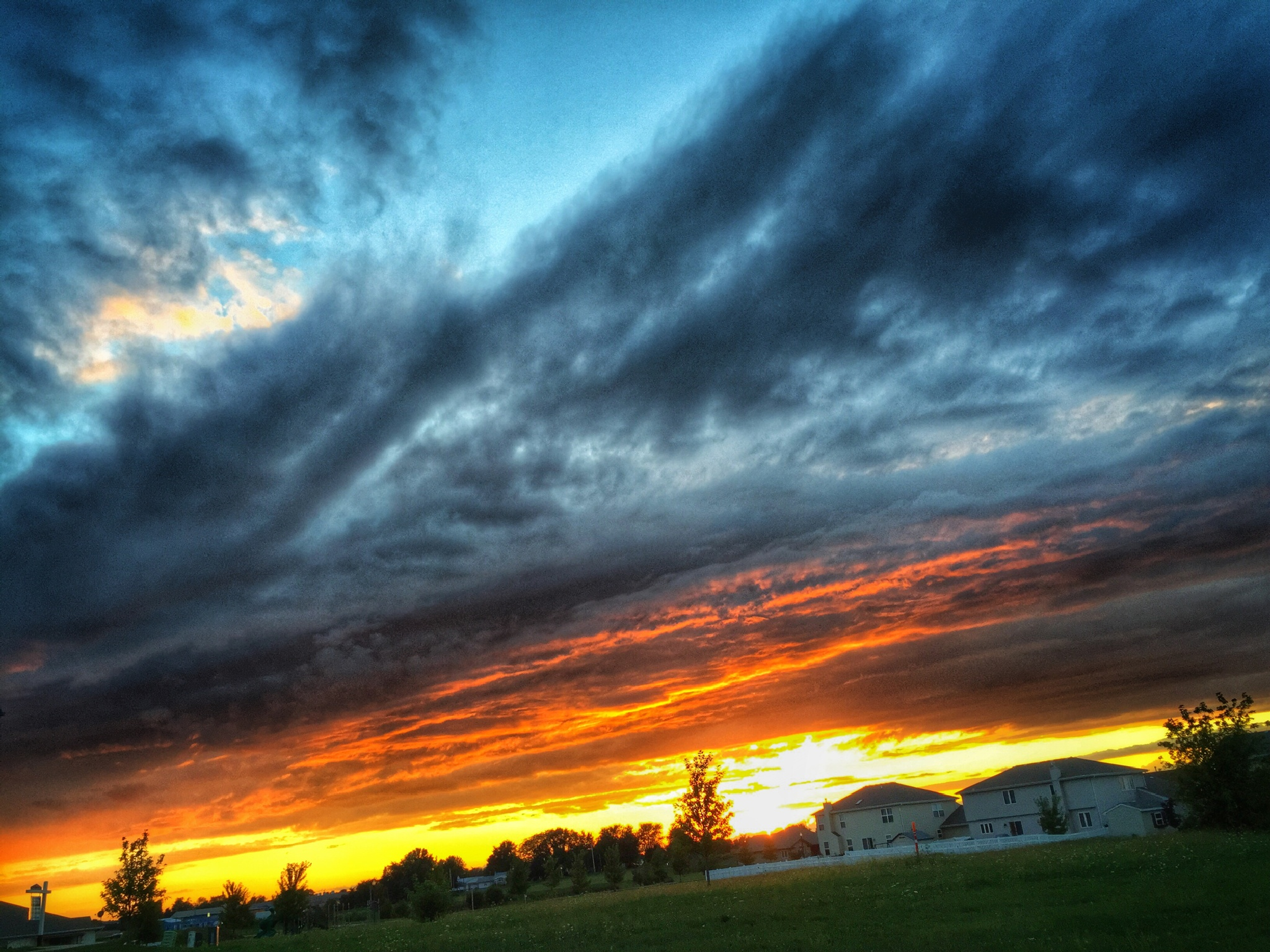 Country Sunset lll by rickferris
