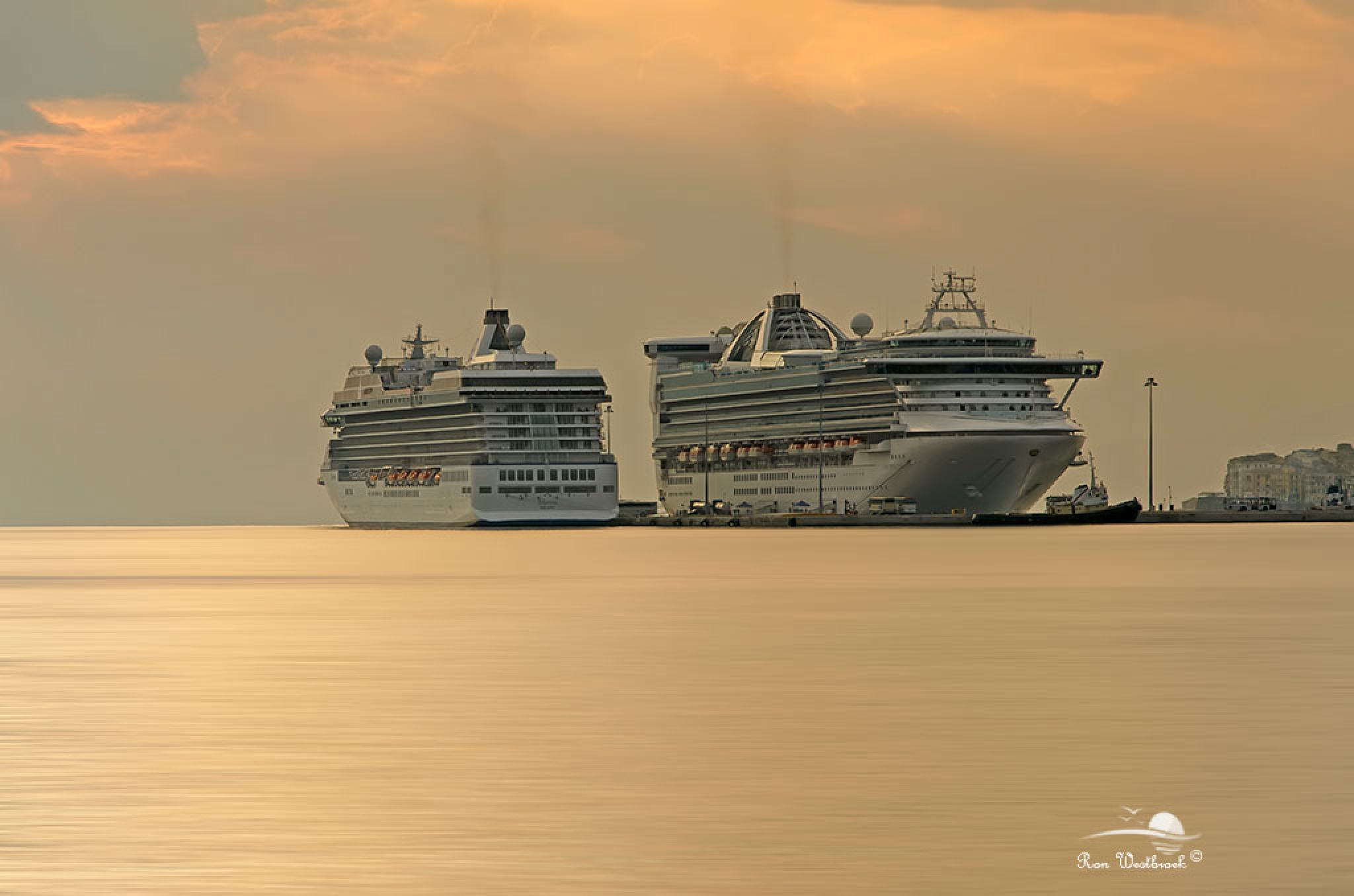 Cruise ships by Ron Westbroek