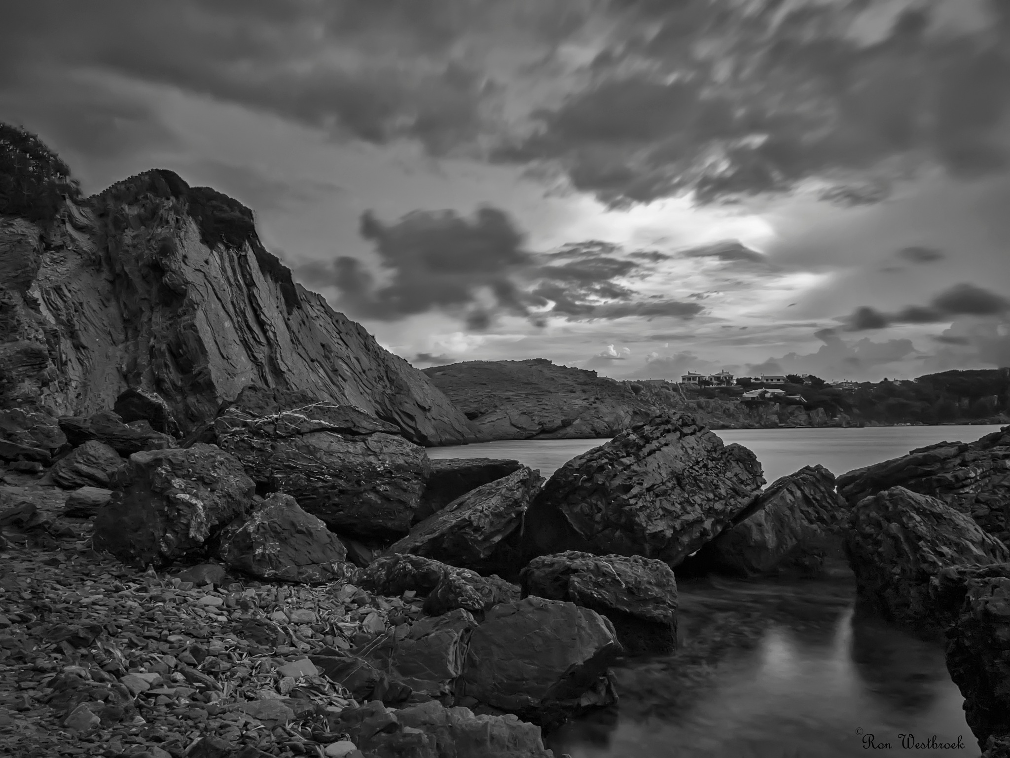 Rocks from the beach of Arenal d'en Castell, Menorca.  by Ron Westbroek