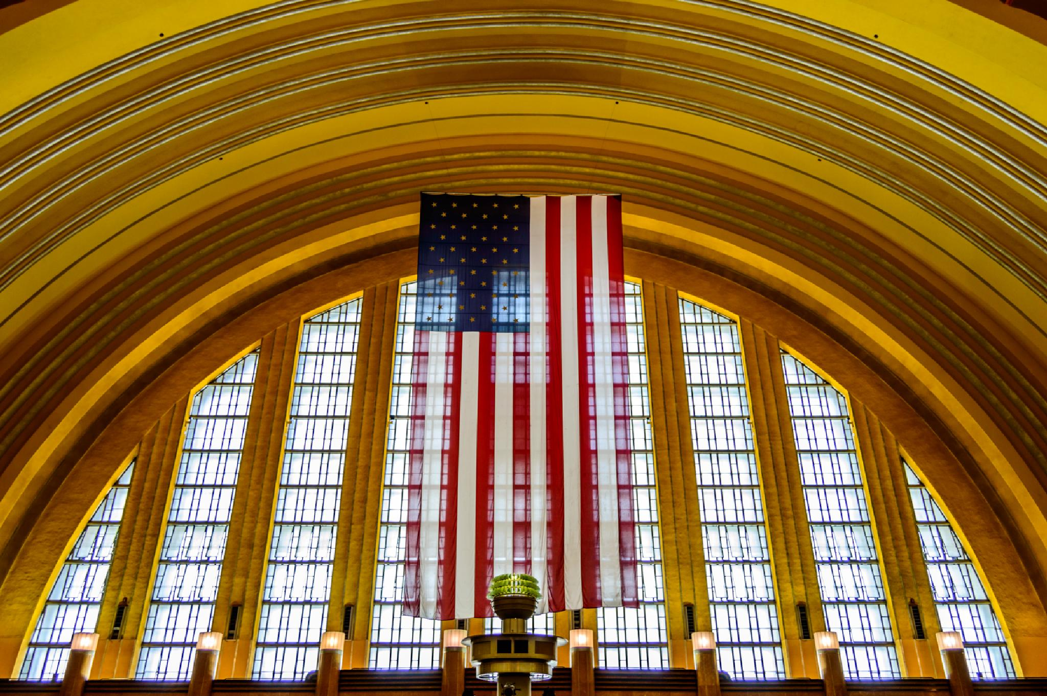 American Flag in the Rotunda by montyspapa
