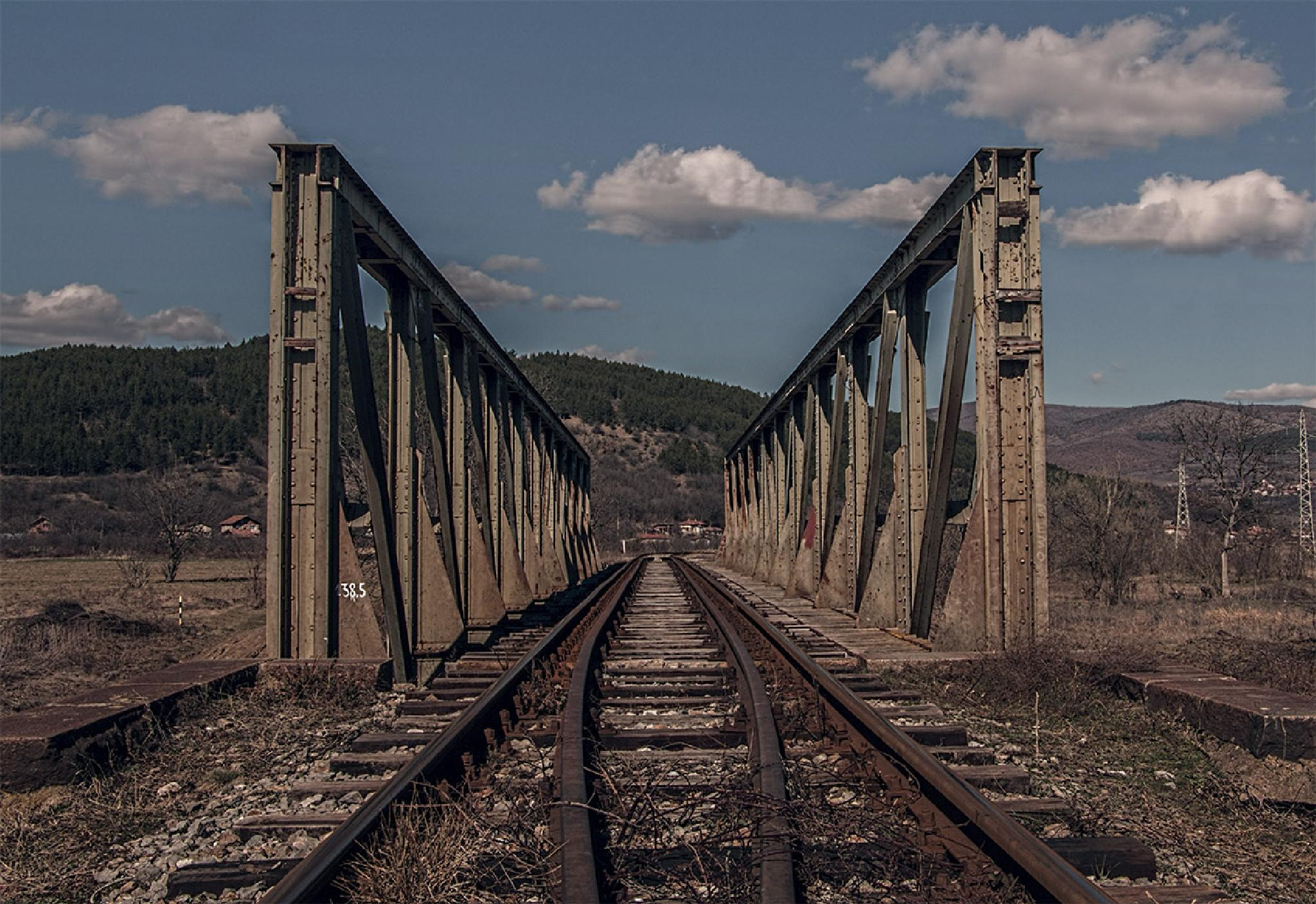 Railway in Bulgaria by Avgvstvs