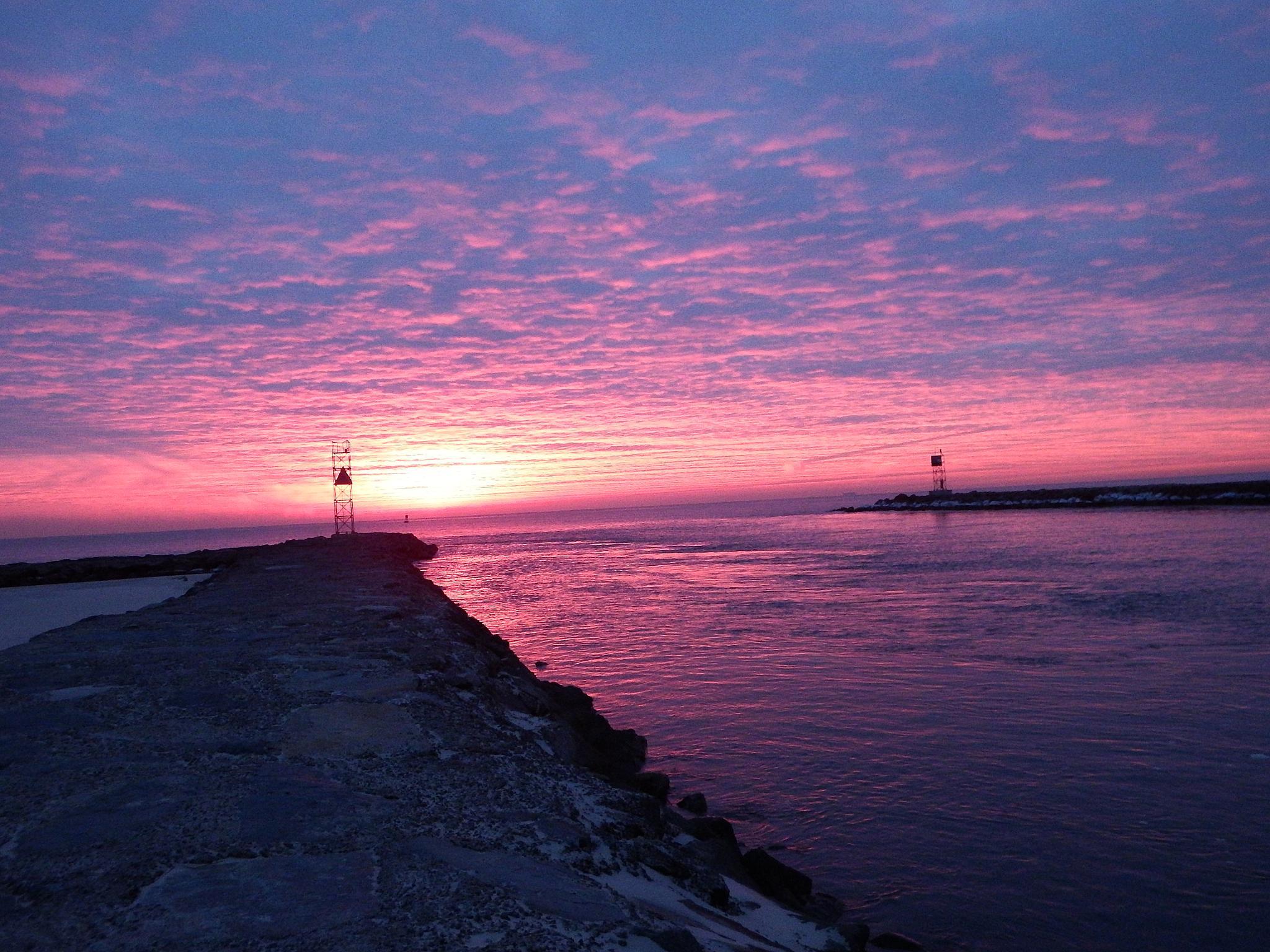 Sunrise at Belmar Beach by Antonette Stiebritz