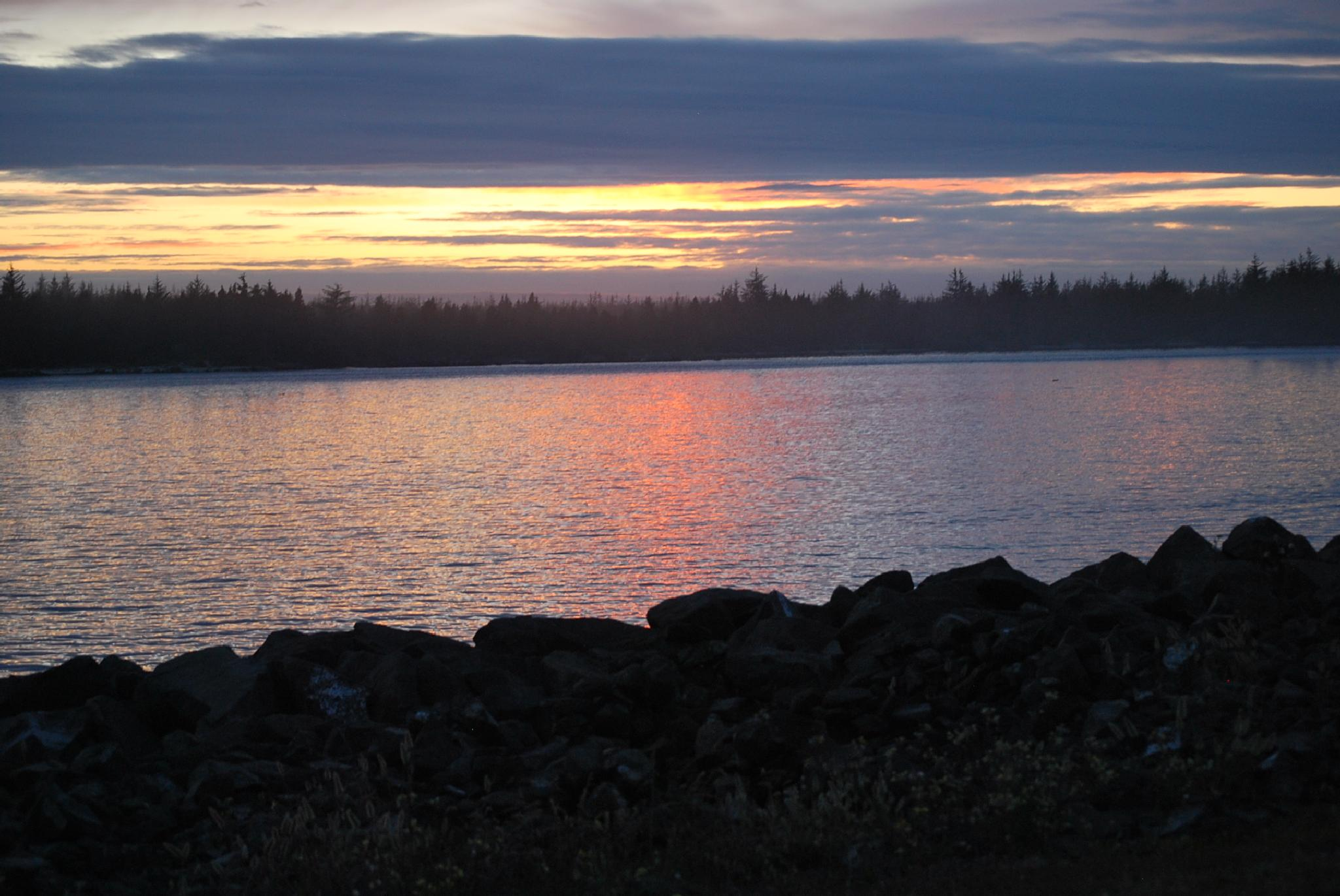 Sunset on Winchester Bay by marilyn wirtz
