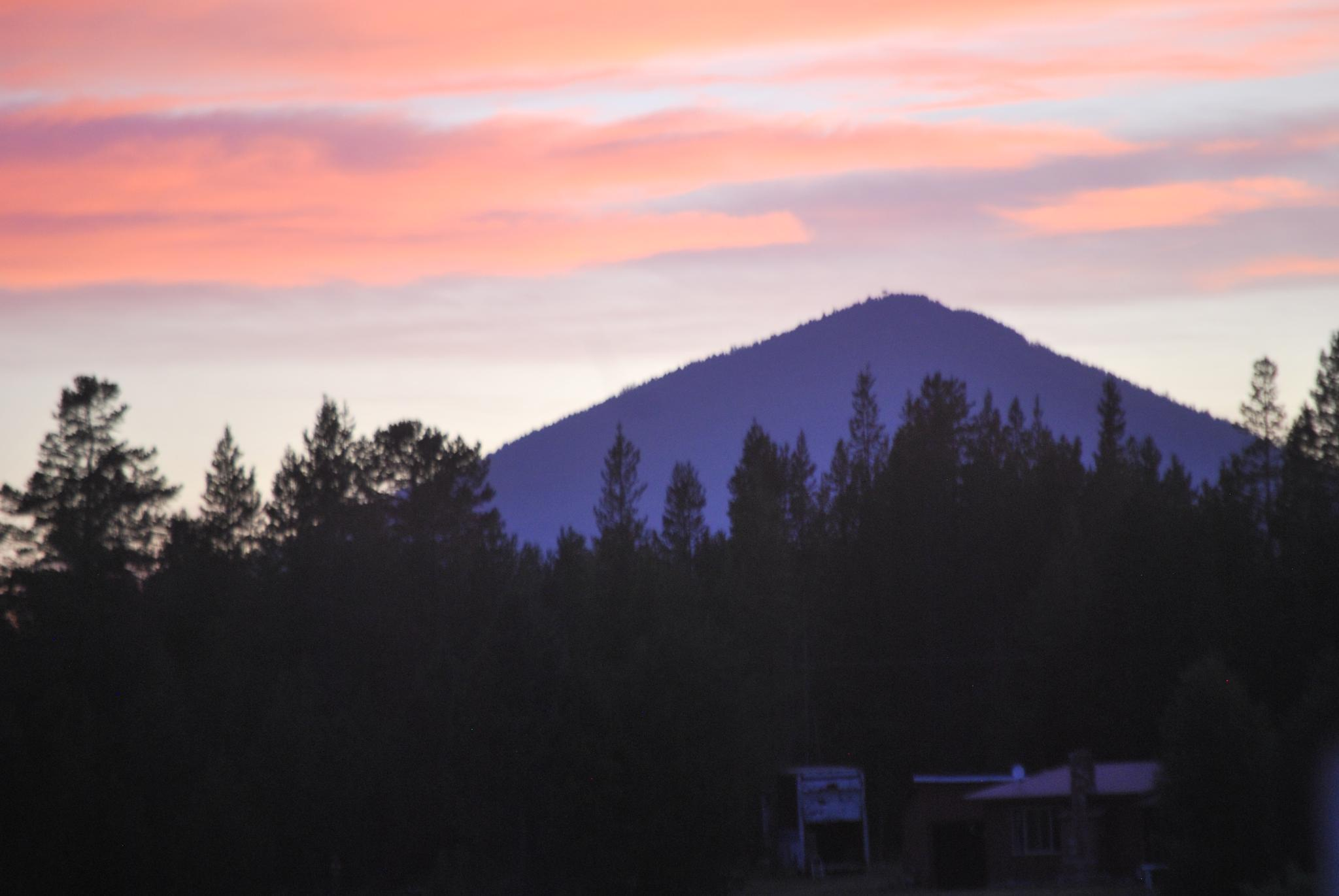 The butte in sunset by marilyn wirtz