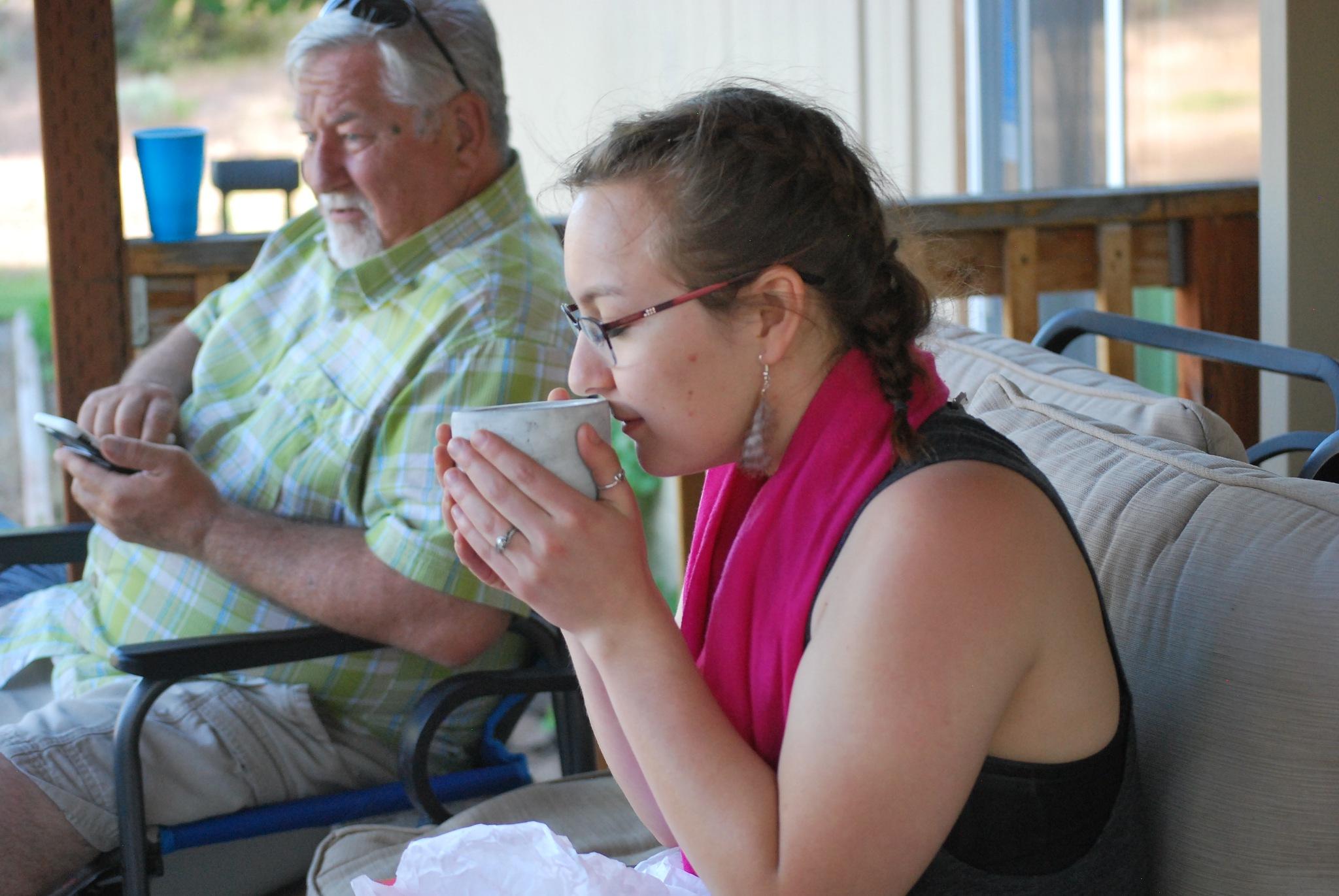 Loving the tea by marilyn wirtz
