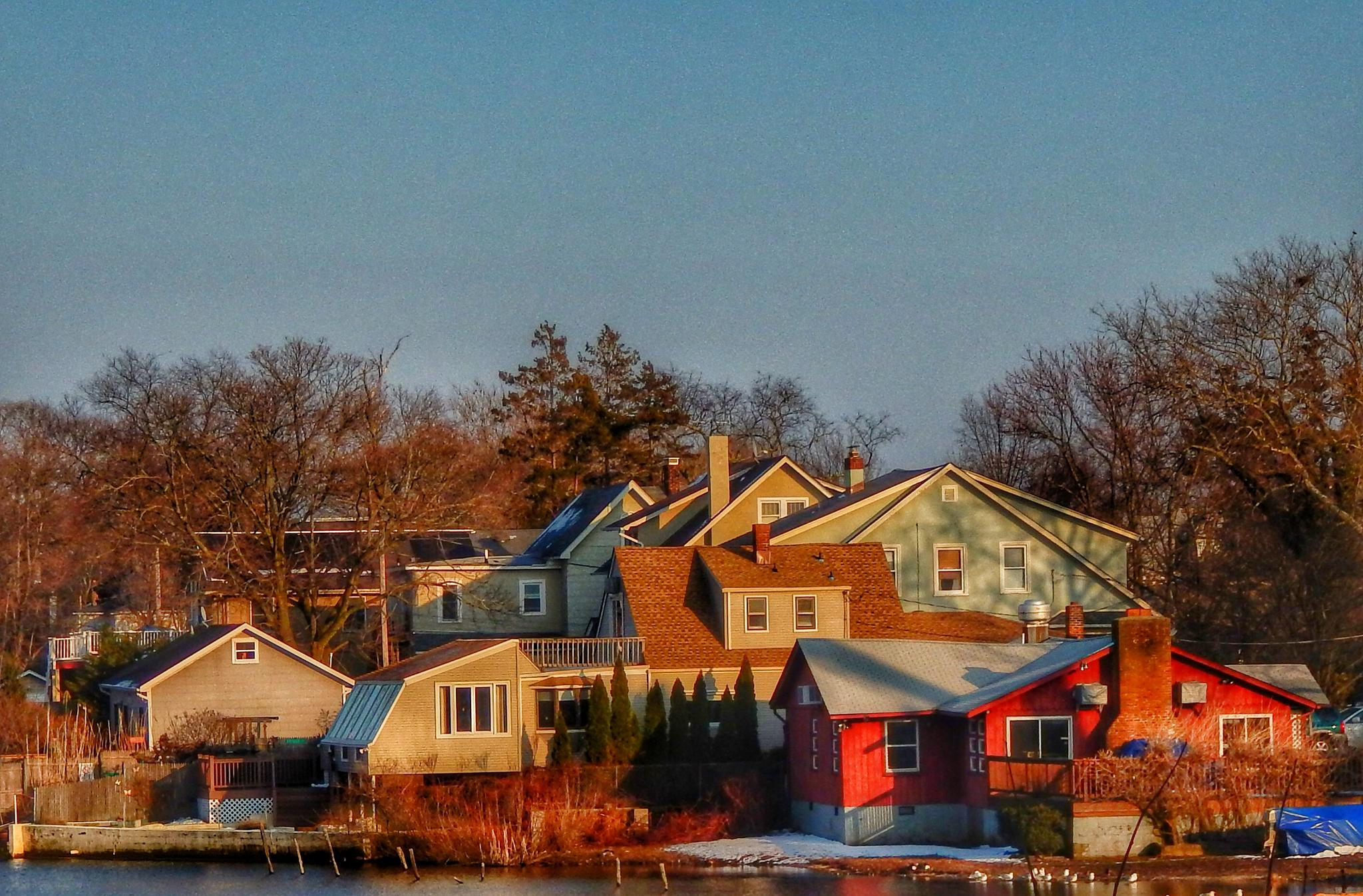 Photo in Landscape #landscape #water #lake #homes #buildings #community #serene