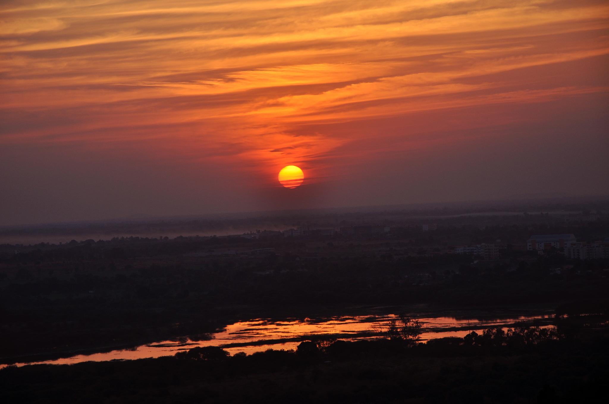 Peaceful Sun set !! by Anita Kindre
