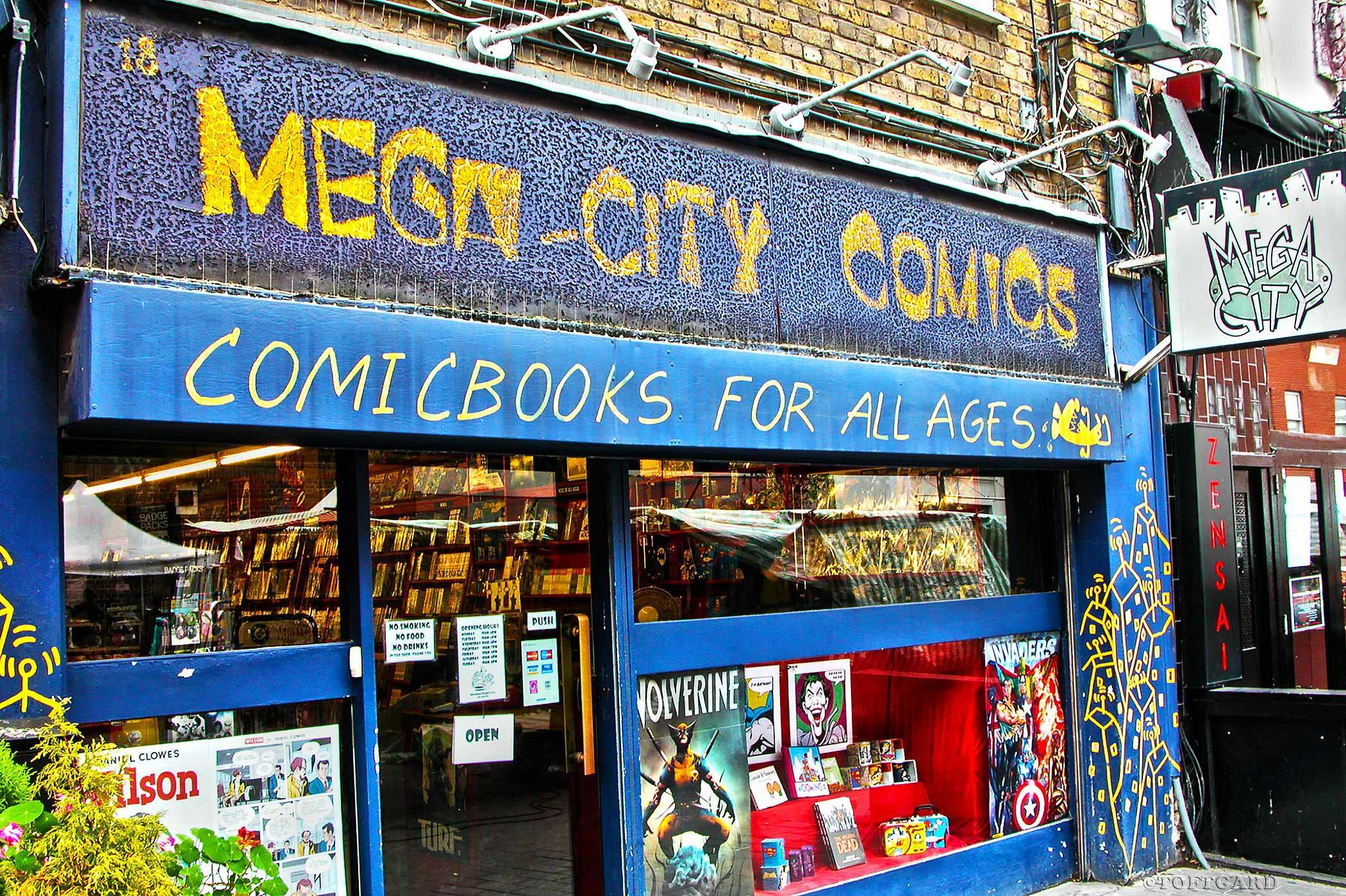 Fun store Mega-City Comics by TOFTGARD