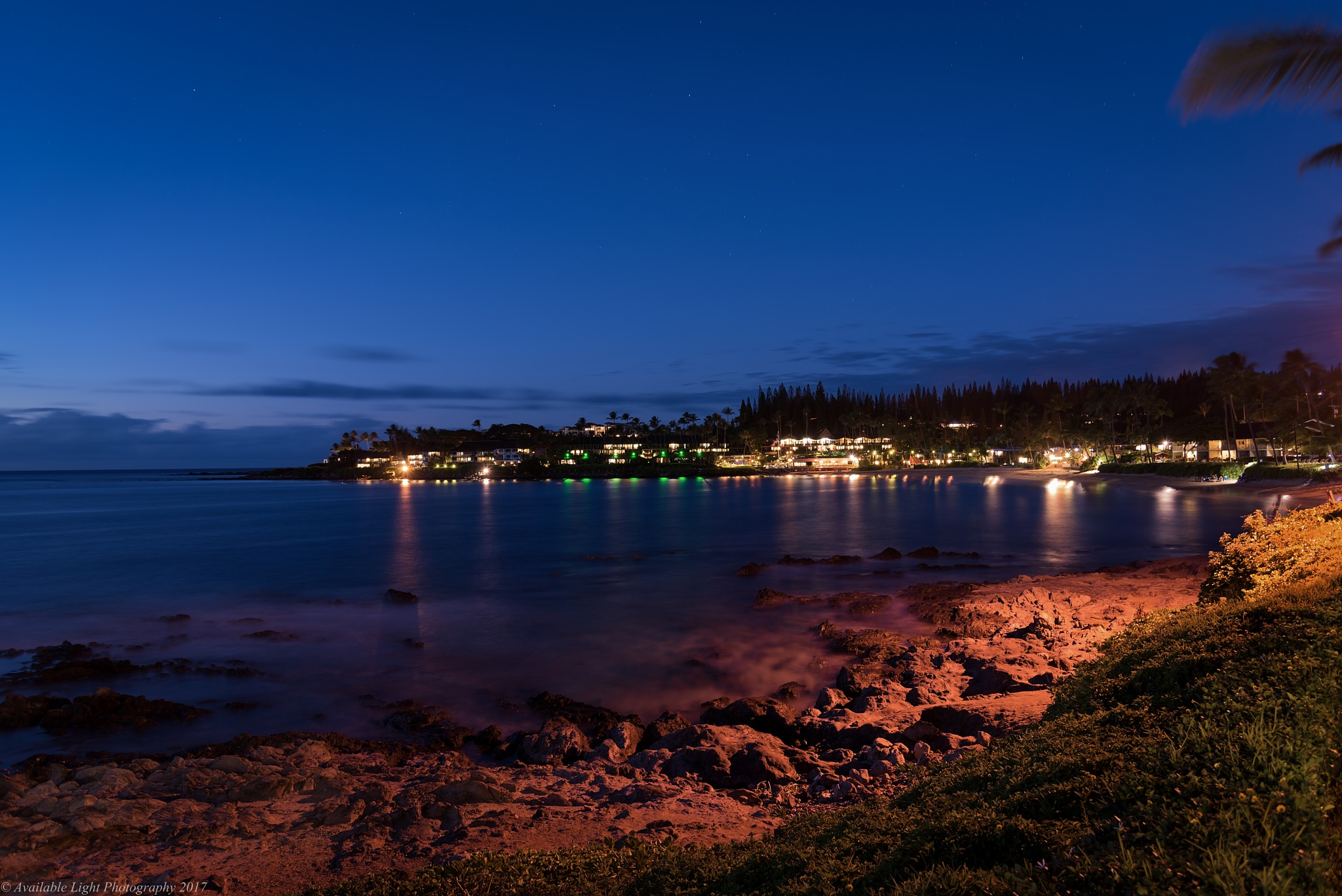 Napili Bay at Night by Available Light Photography