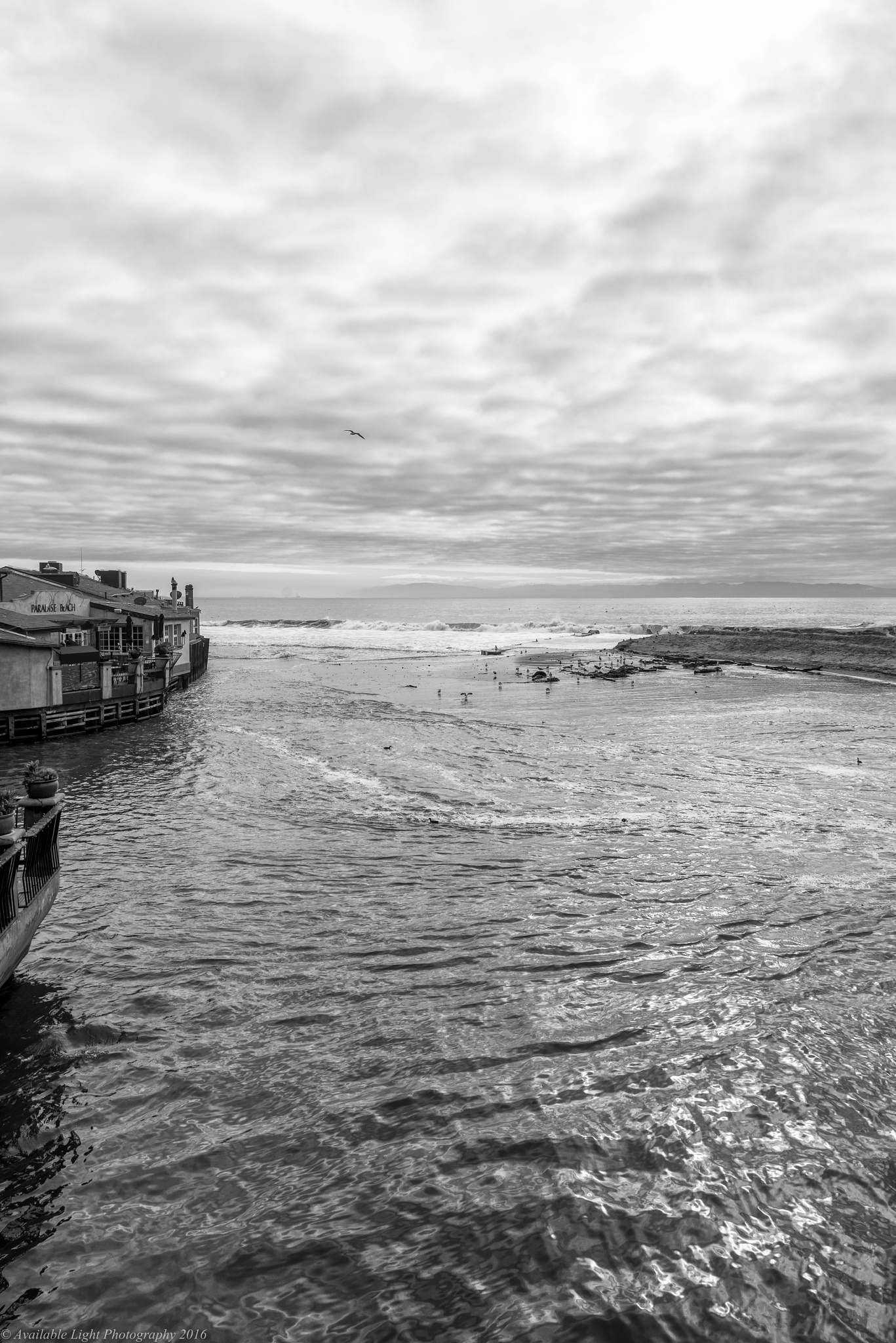Photo in Black and White #clouds #waves #california