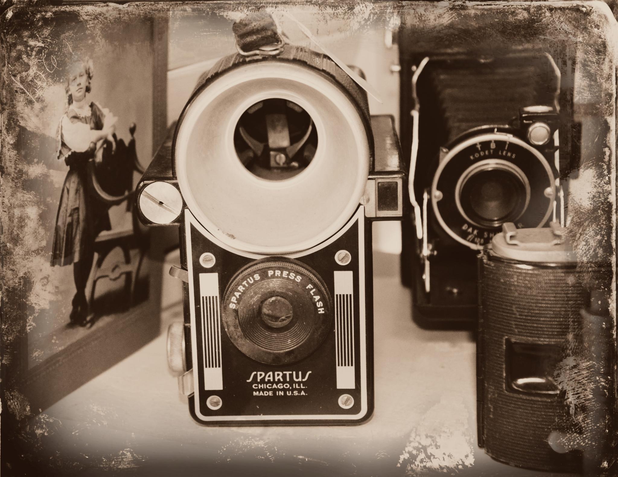 Old Cameras at the Flea Market by Grace Lee