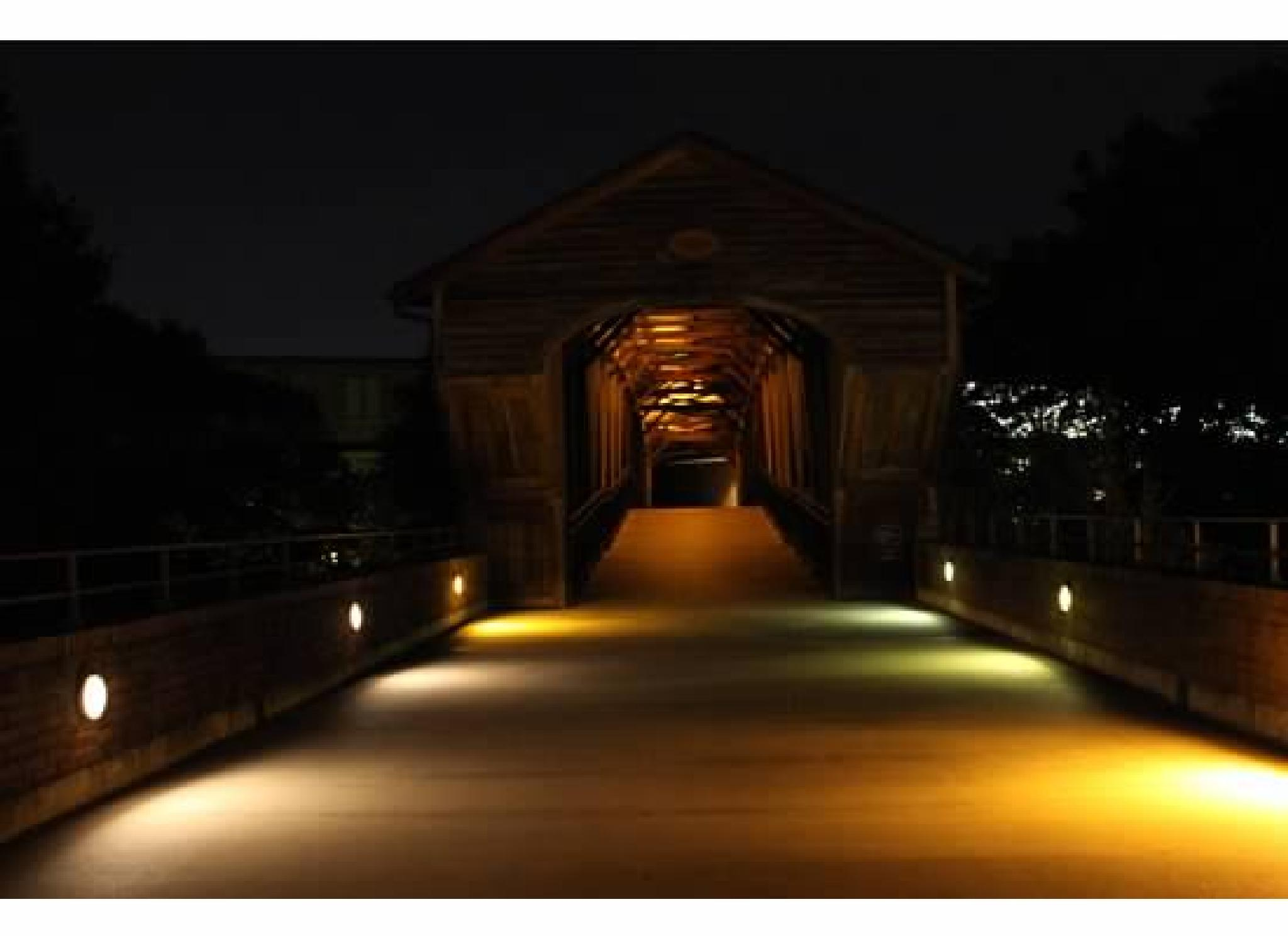 Covered Bridge at Night by kasey.bragg