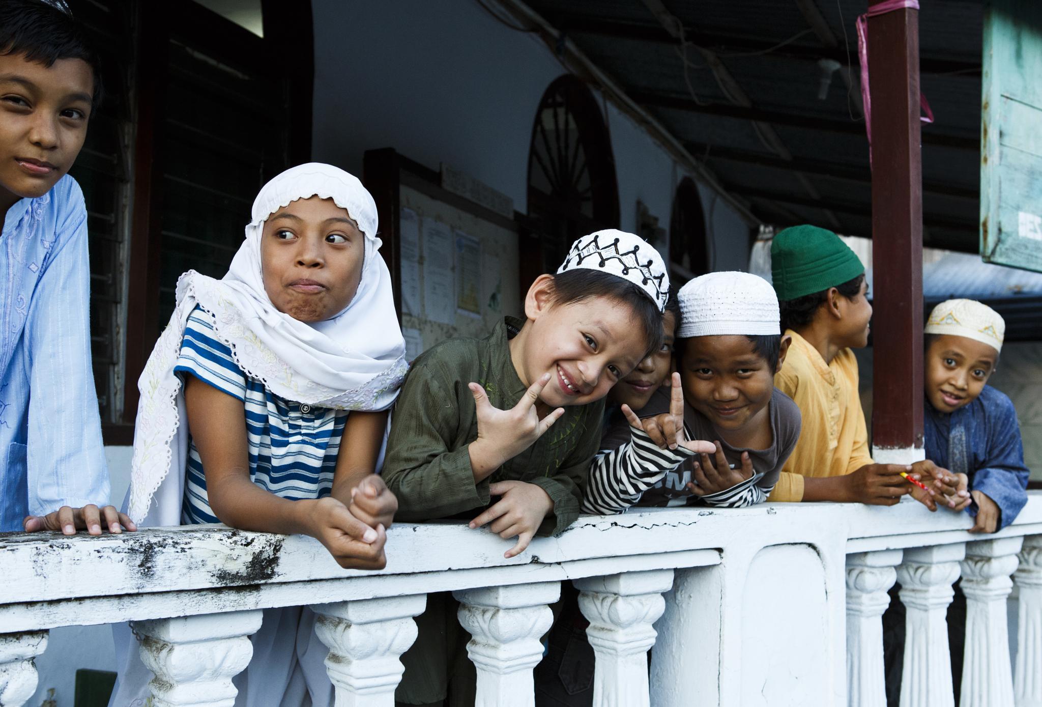 Muslim School Kids by Carl Scott