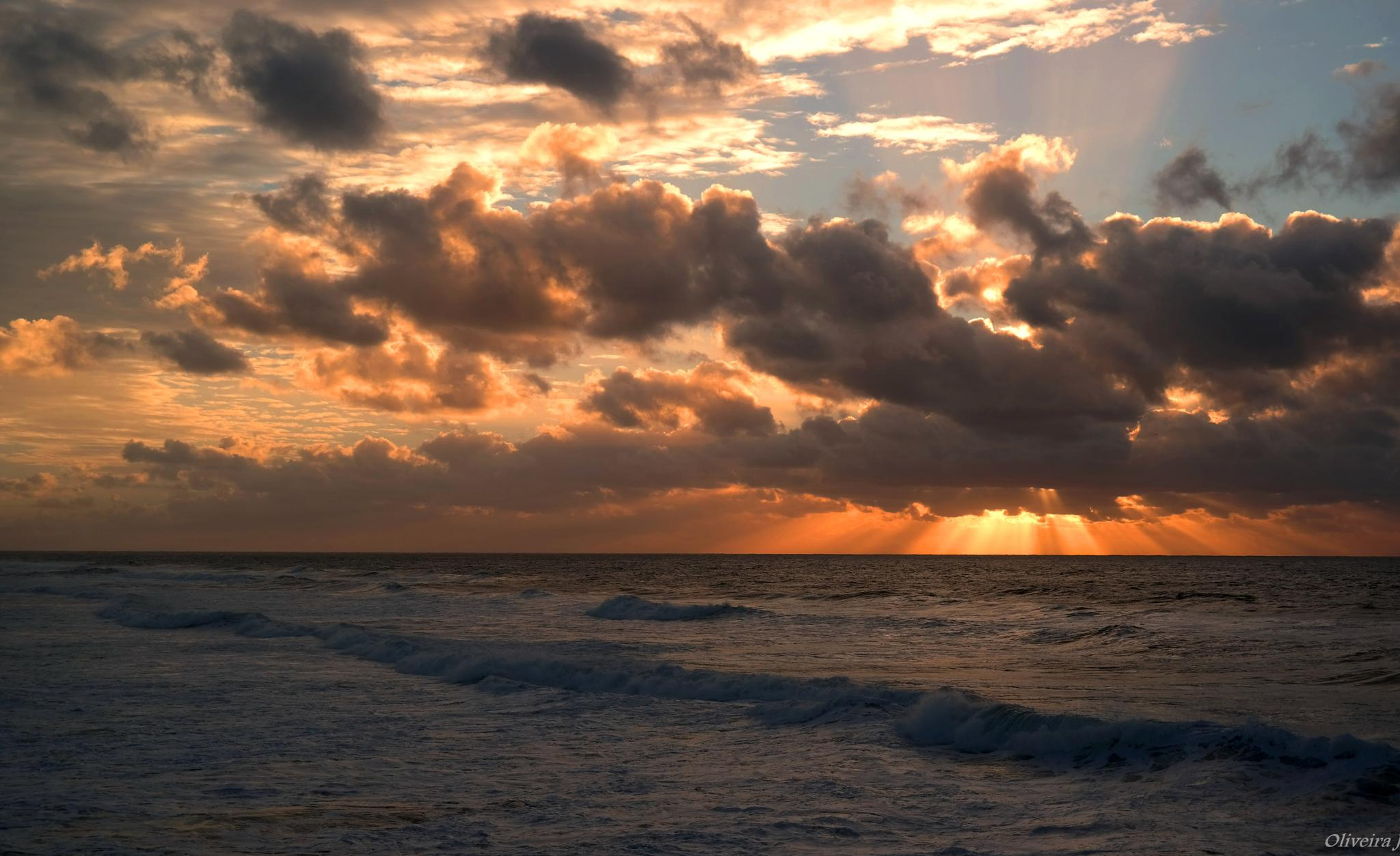 SUNSET OVER THE SEA by joseoliveira1694