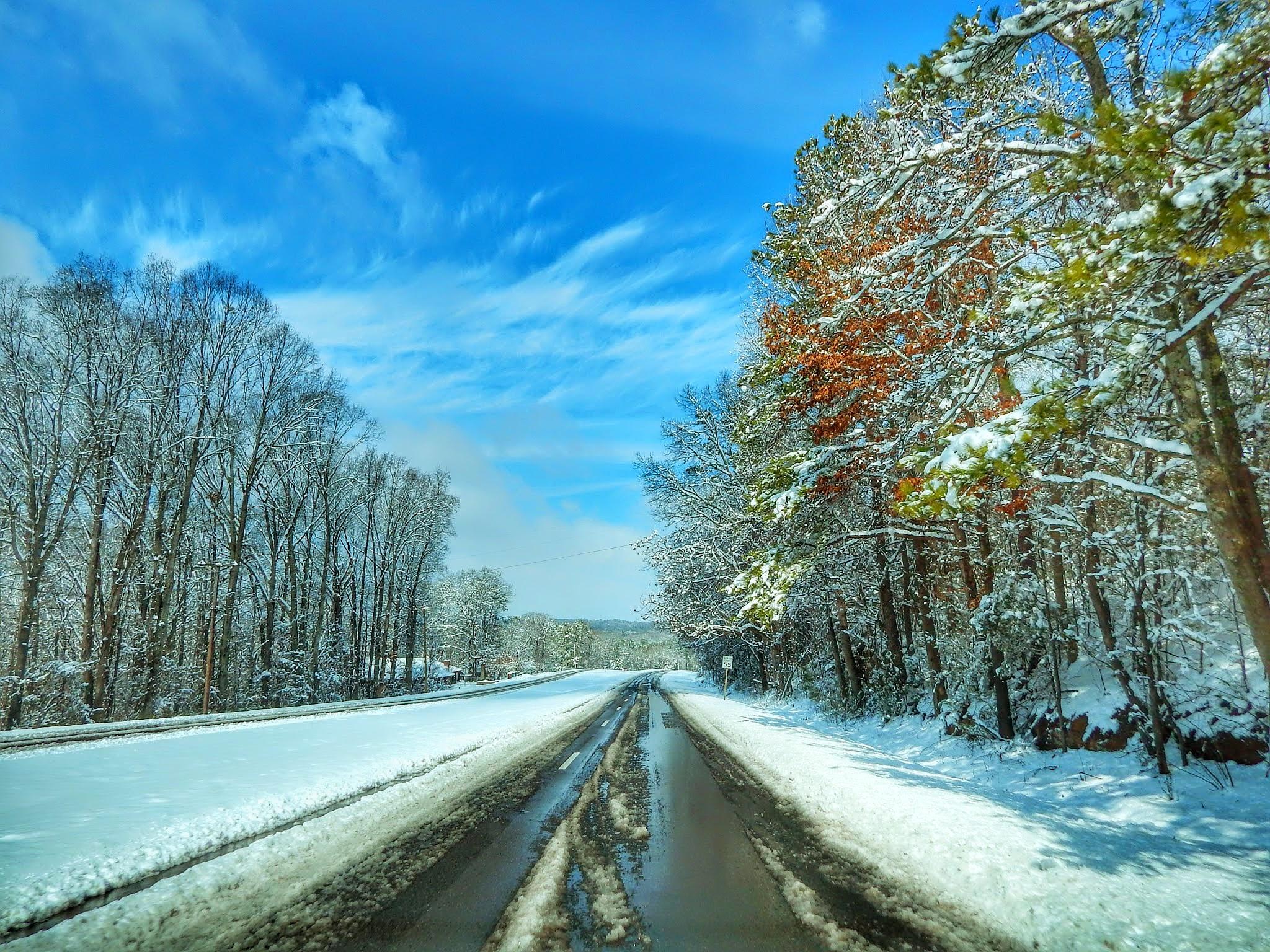 Frozen Highway by Cindy Eddy