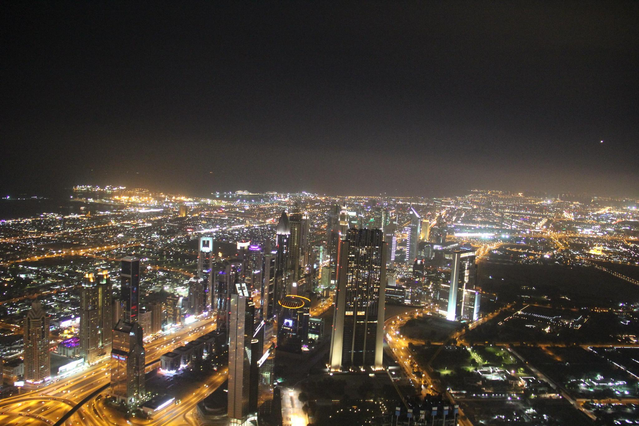 Dubai City Night View by Pranav Desai