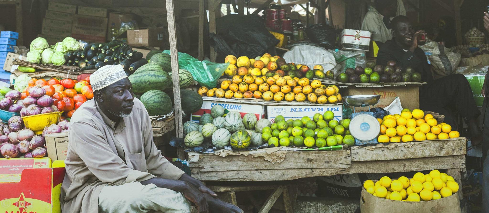 Fruit Seller by Mark Andrews