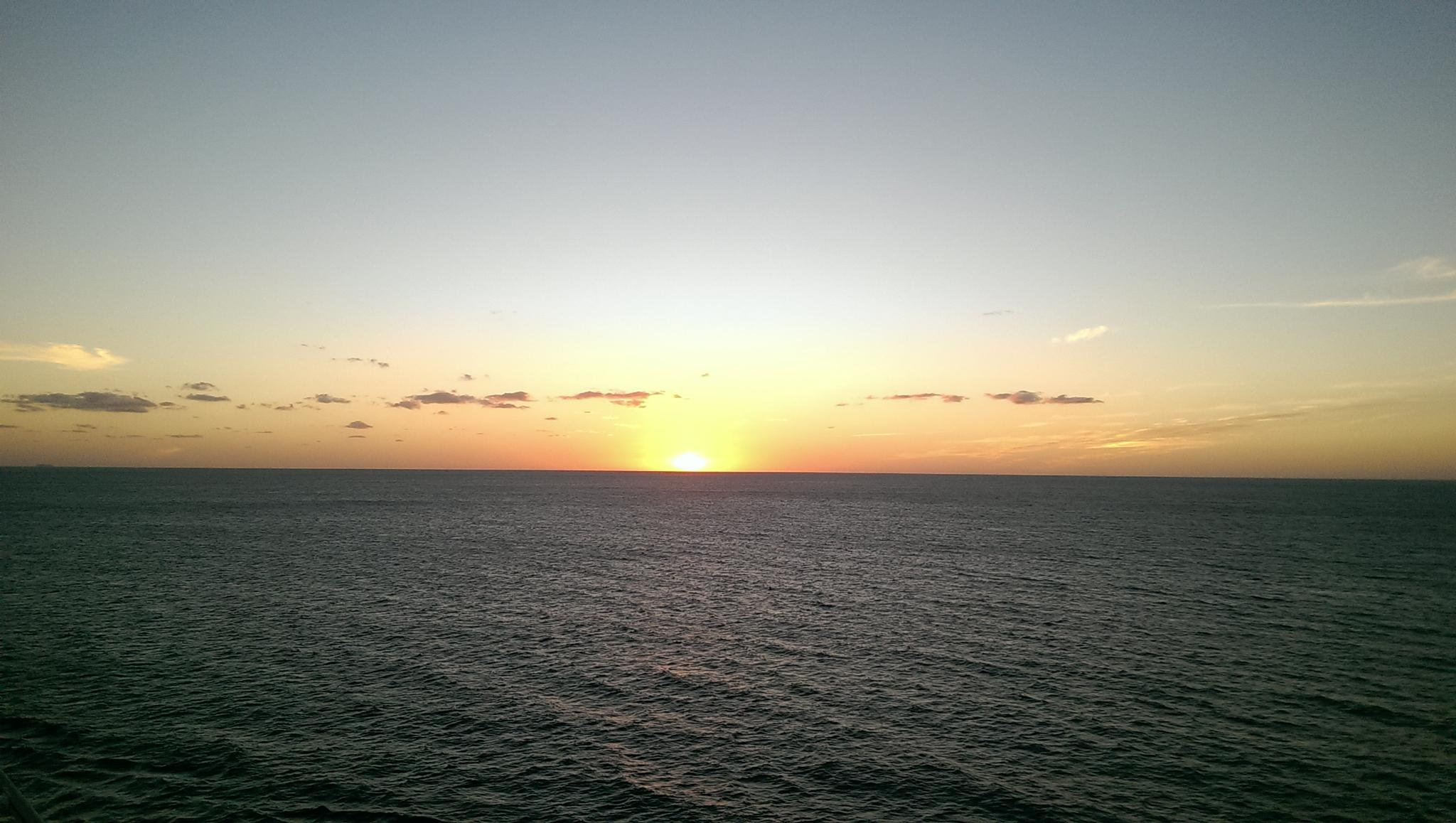 Sunset in the Caribbean  by palo905