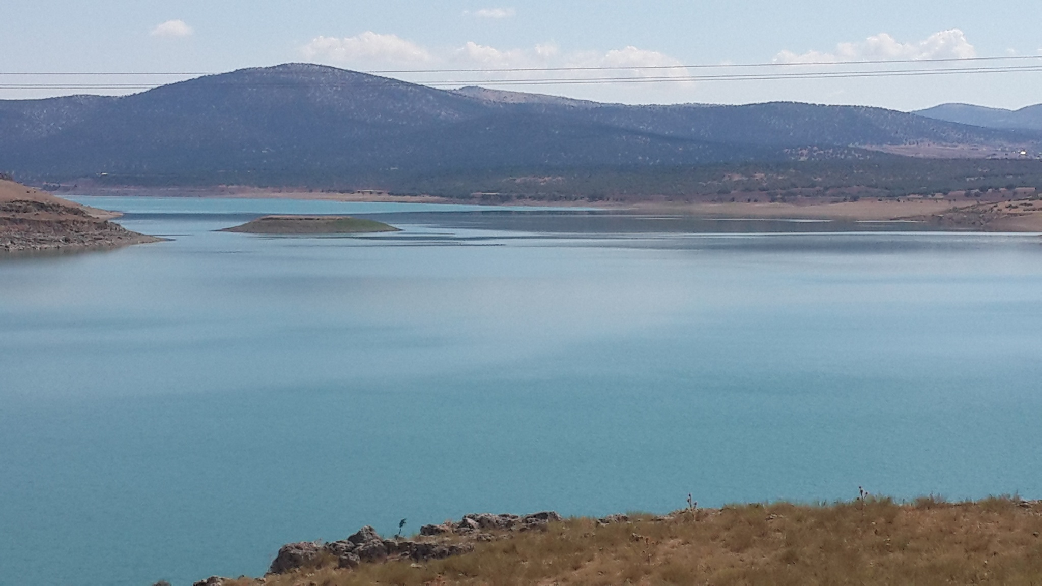 a hoyuk inside in dam by spring