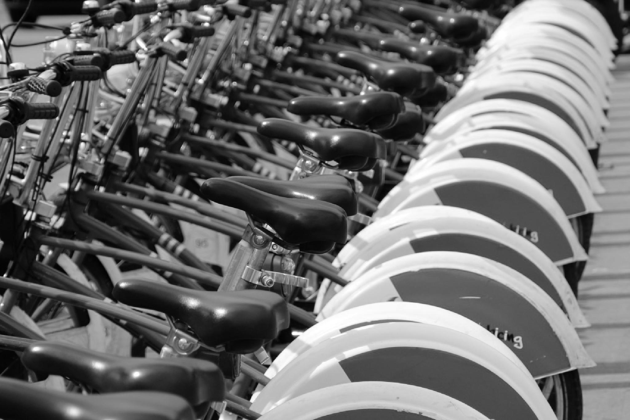 Barcelona Bicycles by Bill Peters