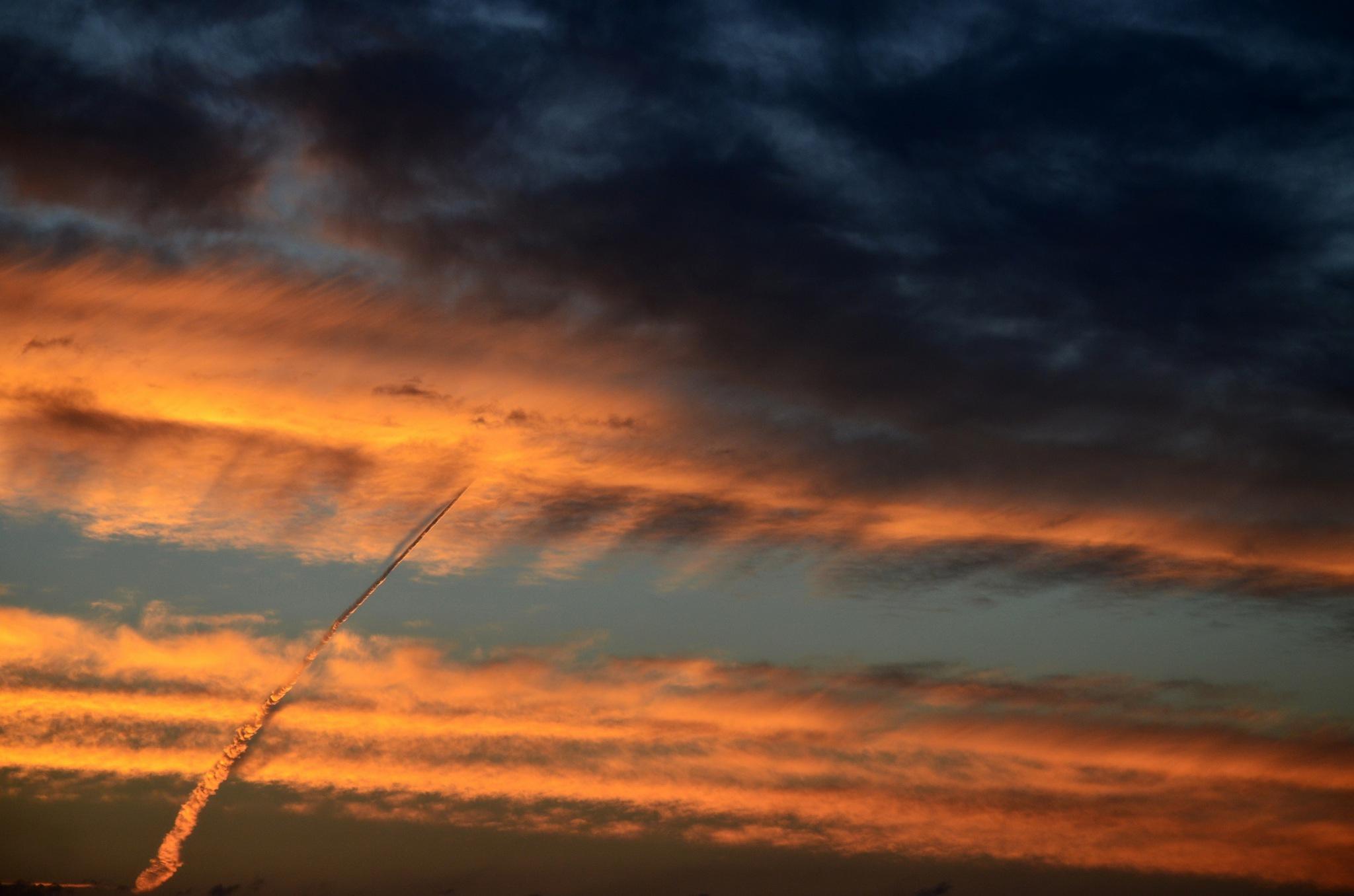 Sunset arrow by Sarah Fox