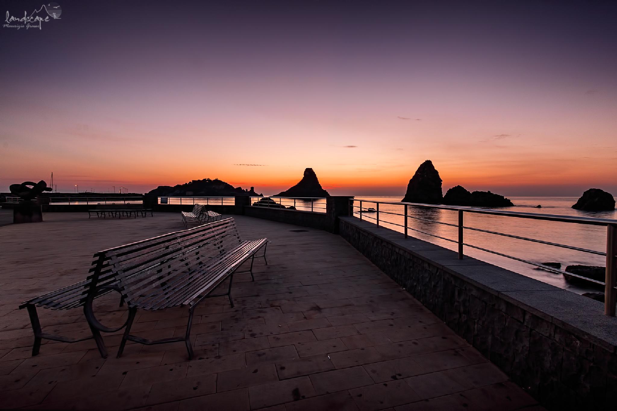 Photo in Landscape #sicilia #alba #mare #catania