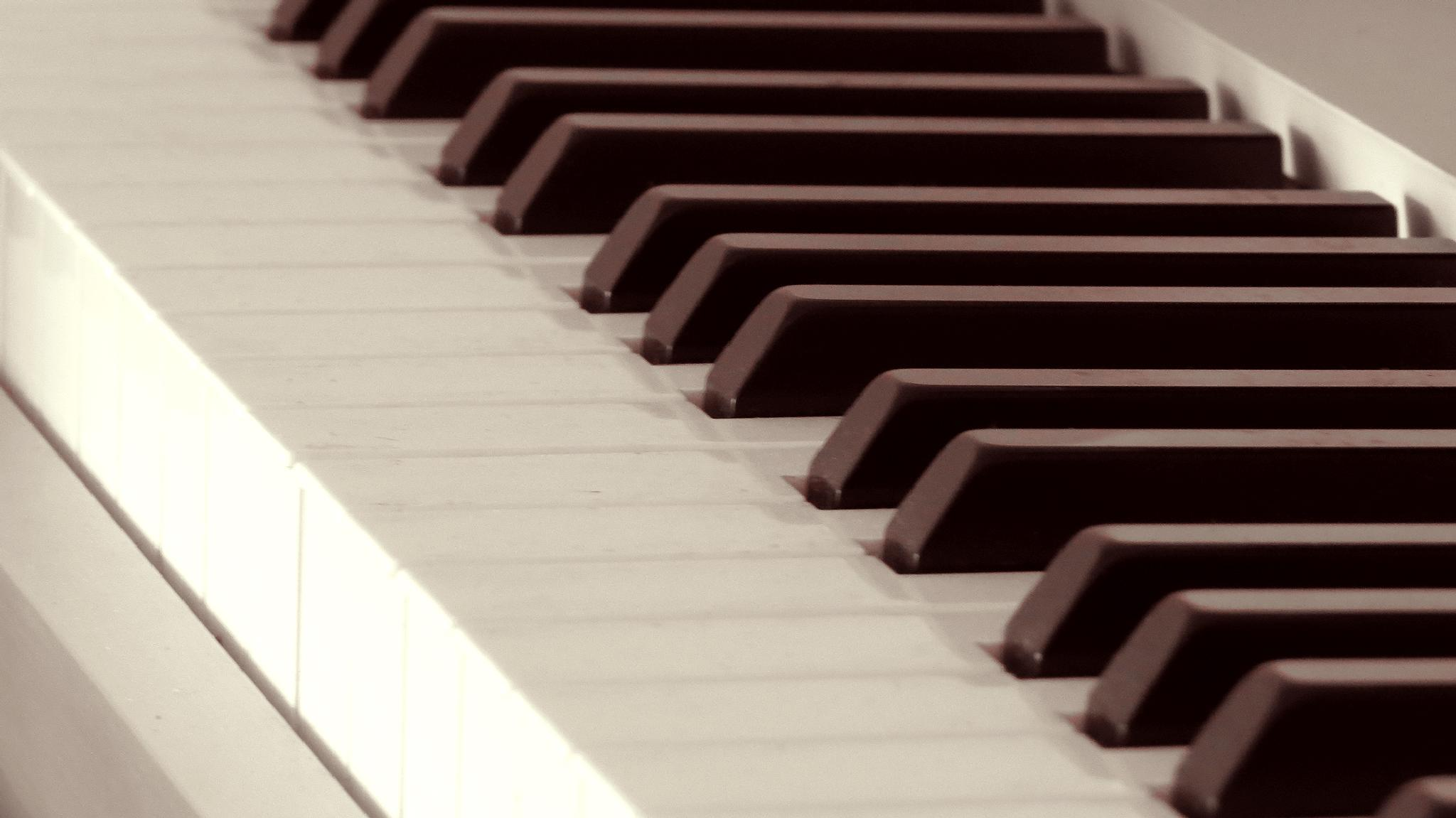 Piano Keys in Sepia by Alisha Mari Crawford