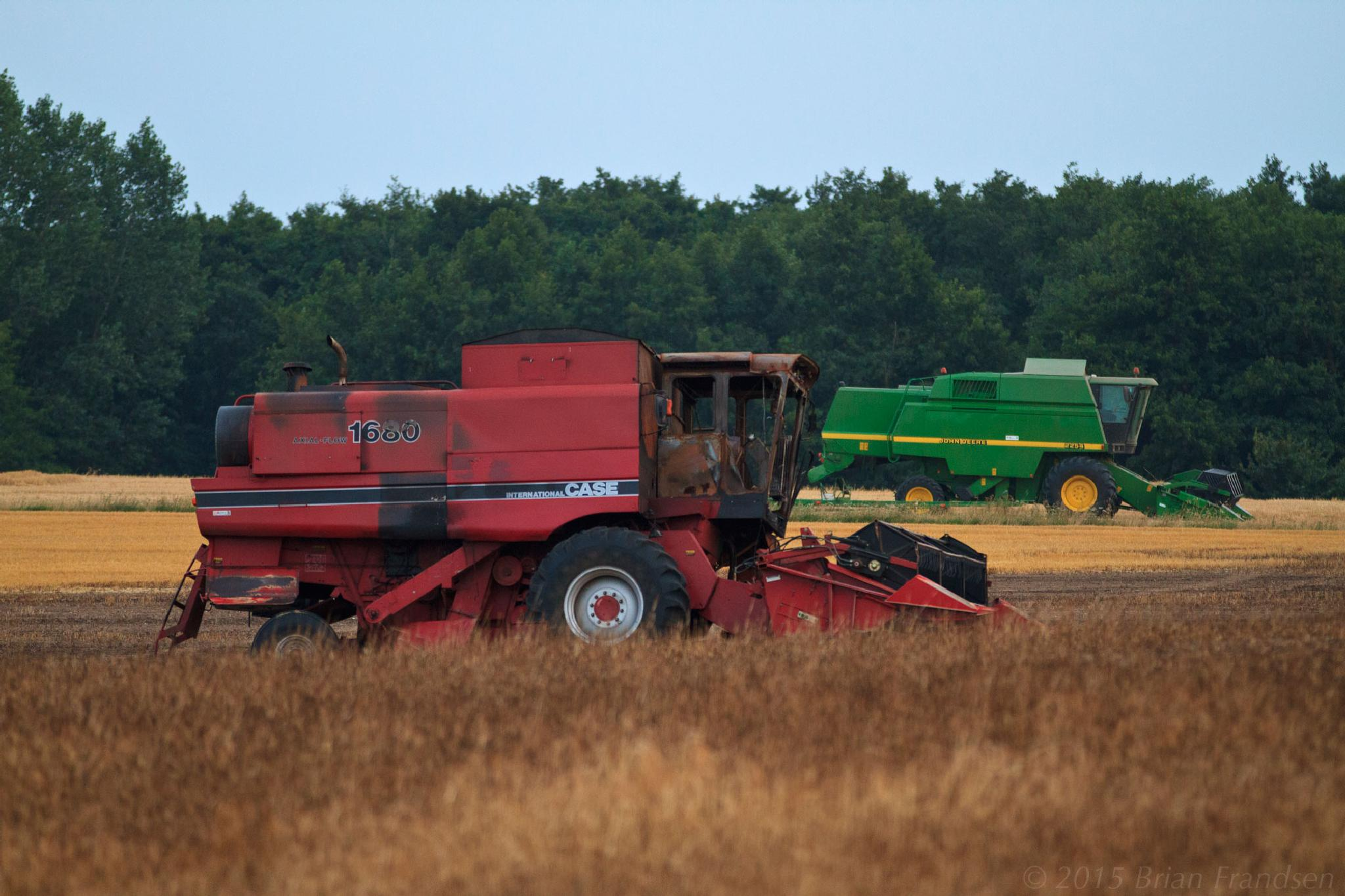 Death of a combine harvester by Brian Frandsen