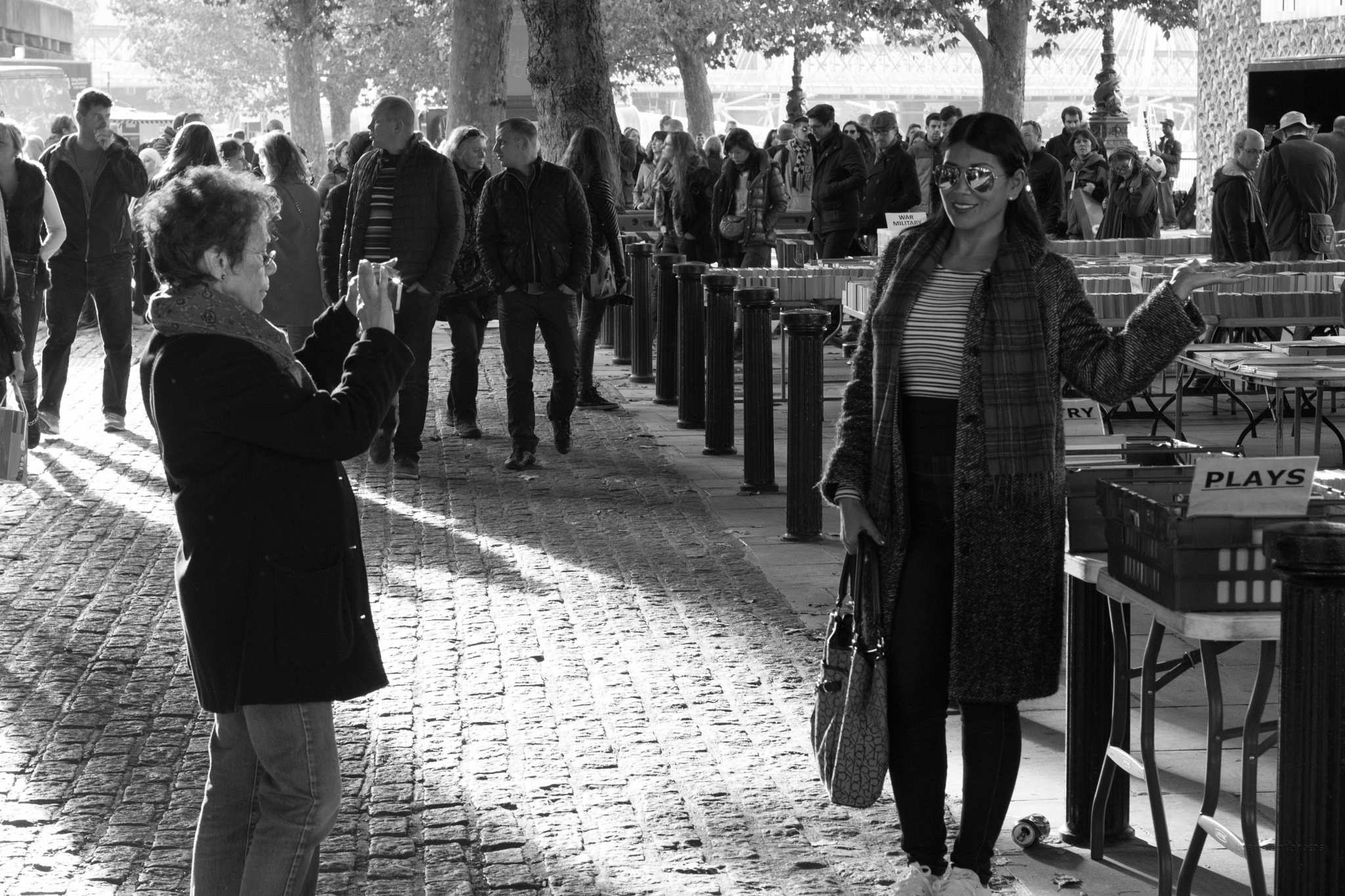 Southbank visitors by Chas McMaster
