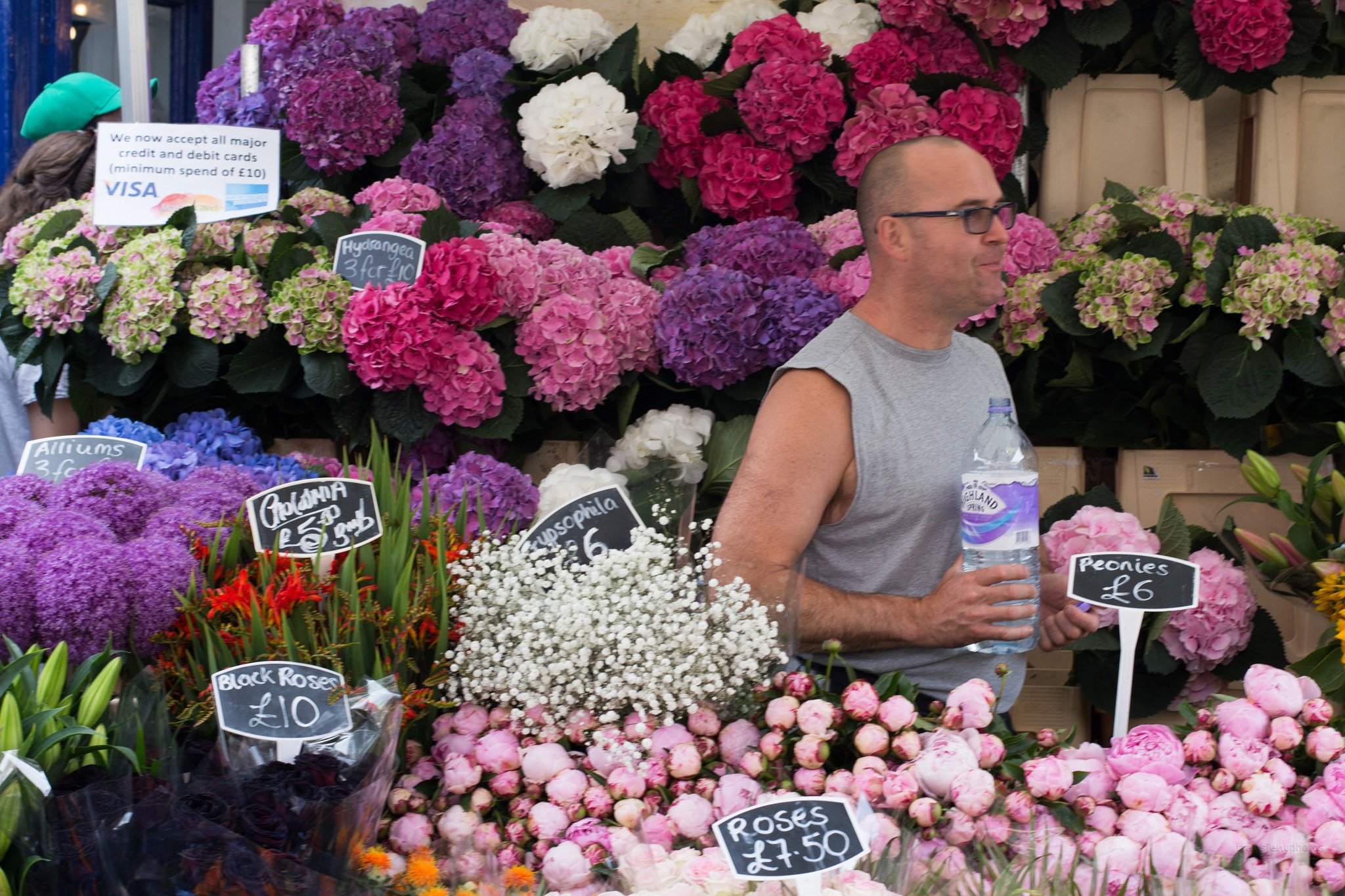 Columbia Road Flower Market by Chas McMaster