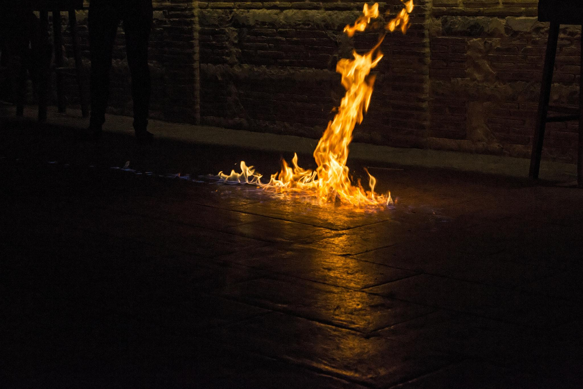 Flame on the floor by howard.rollinson