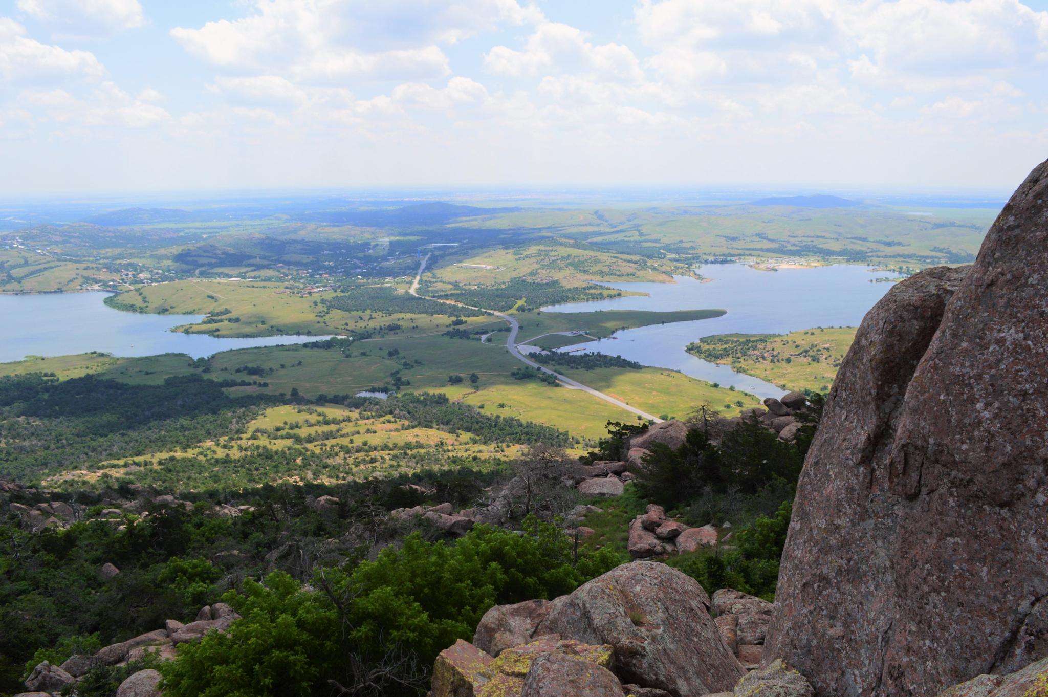 View from Mt Scott looking towards Lake Lawtonka by VickiB