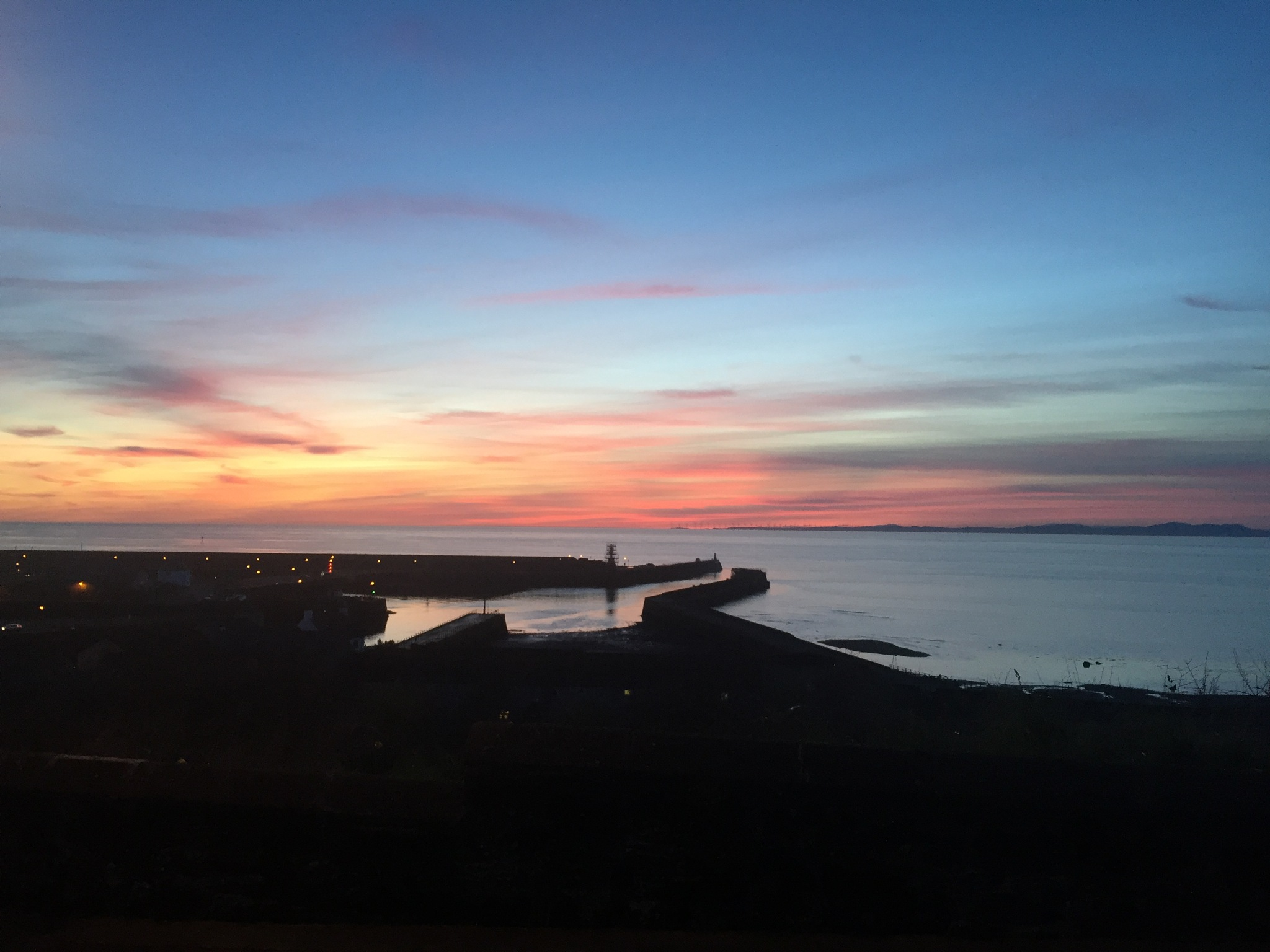 Sunset at Maryport Harbour by Owen Daniel